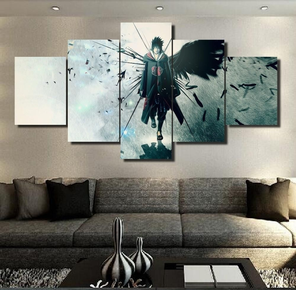 Naruto Sasuke Wall 3D Printed Naruto Canvas | Wall Canvas, Sasuke Throughout Recent Anime Canvas Wall Art (View 10 of 15)