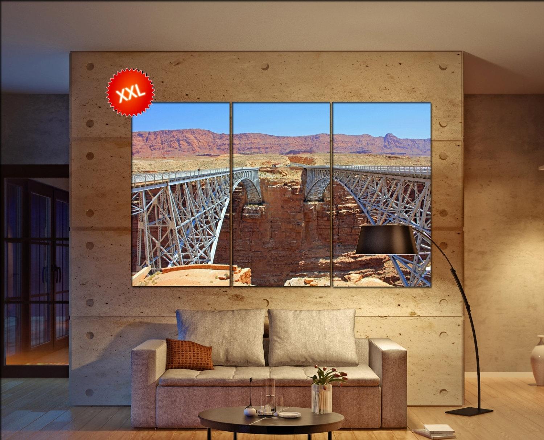 Navajo Bridges, Arizona Canvas Wall Art Skyline Navajo Bridges With Regard To Best And Newest Arizona Canvas Wall Art (Gallery 3 of 15)