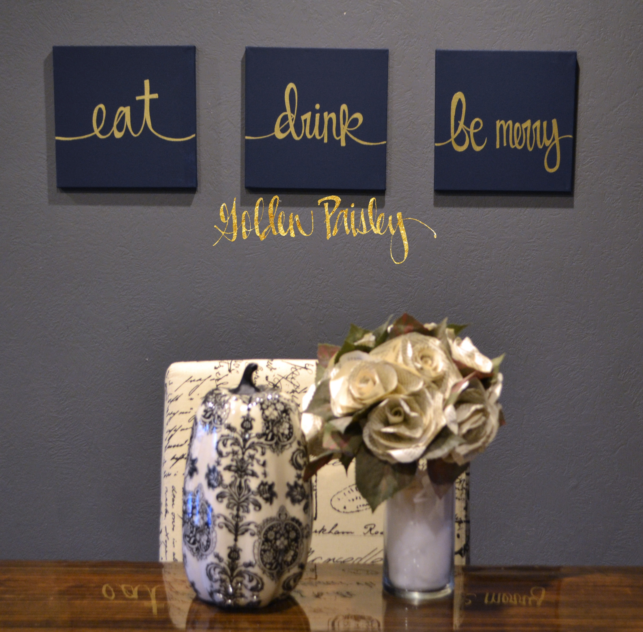 Navy Wall Decor Choice Image – Wall Design Ideas With Best And Newest Eat Canvas Wall Art (View 8 of 15)