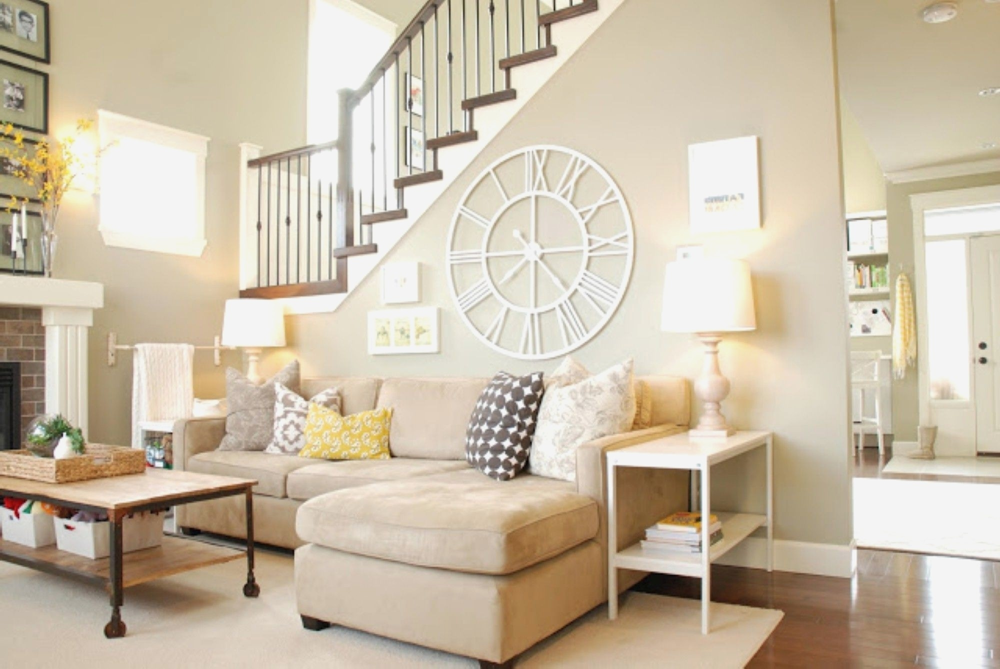 Neutral Living Room Within Most Recently Released Neutral Color Wall Accents (View 10 of 15)