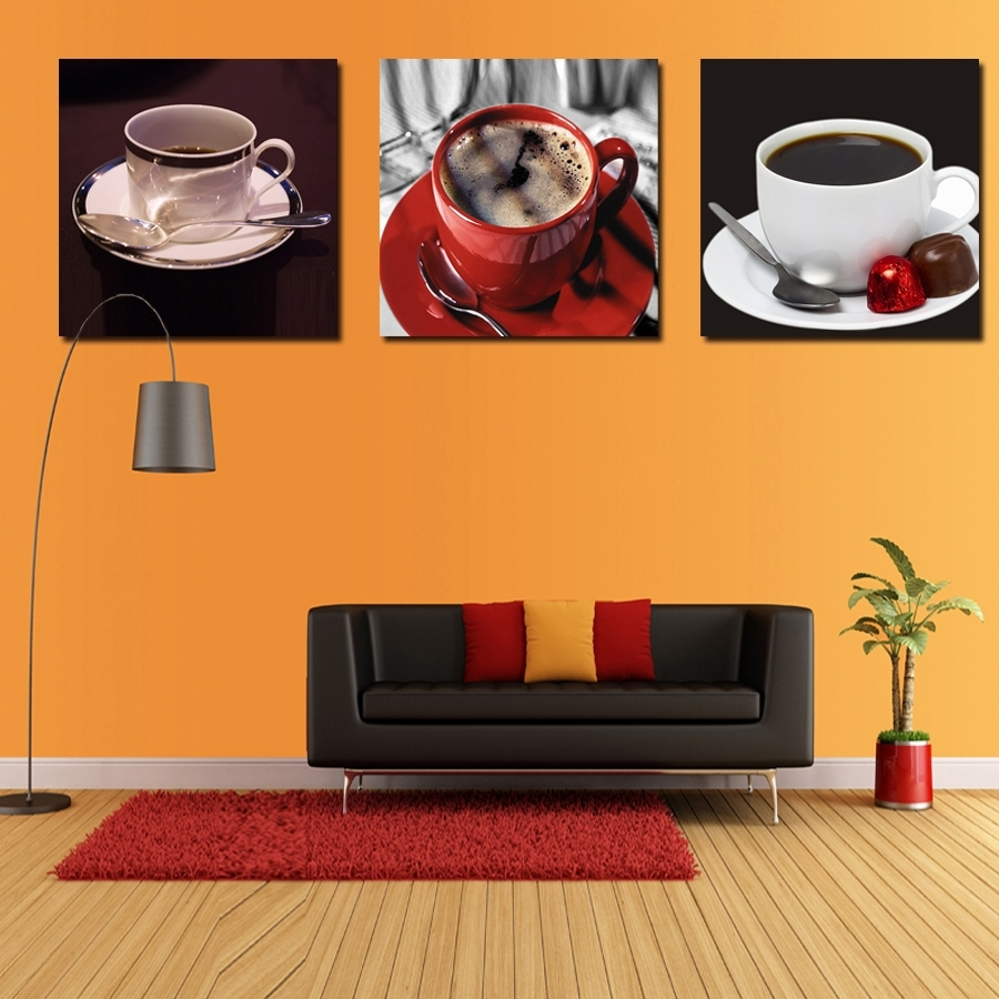 New Arrival New Kitchen Coffee Wall Art Painting Home Decor Canvas with regard to Recent Coffee Canvas Wall Art