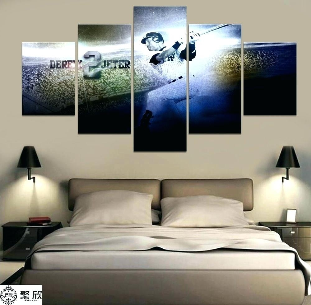 New York Yankee Wall Decals Wall Ideas New Skyline Mirror Wall throughout Most Current Canvas Wall Art At Target