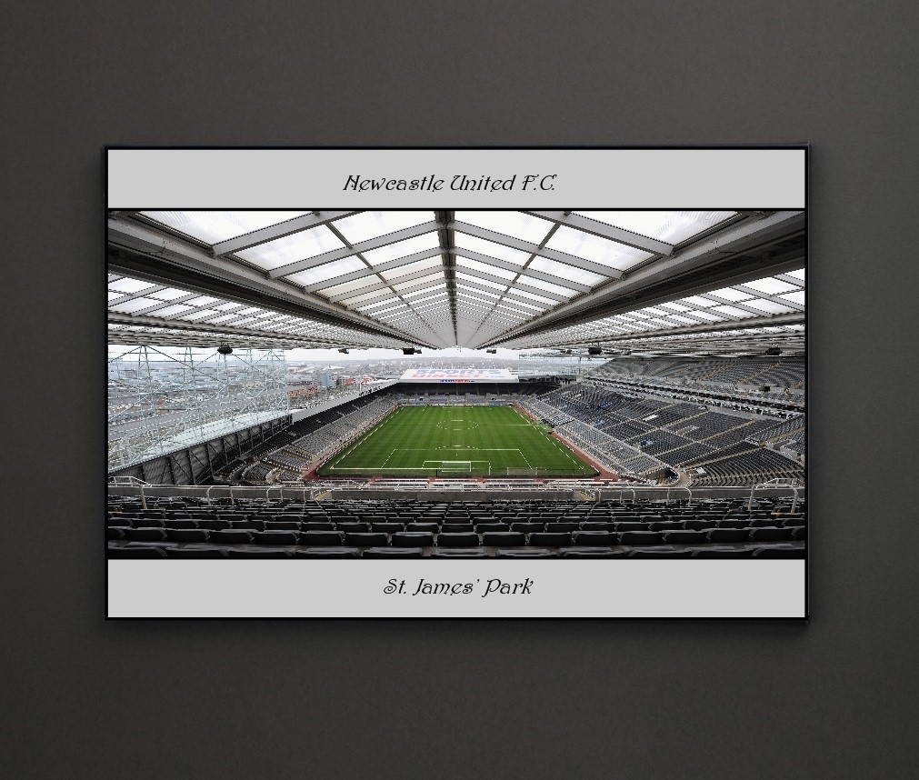Newcastle United Fc St James Park A4 Framed/box Canvas A4 A3 A2 A1 regarding Most Recently Released Newcastle Canvas Wall Art