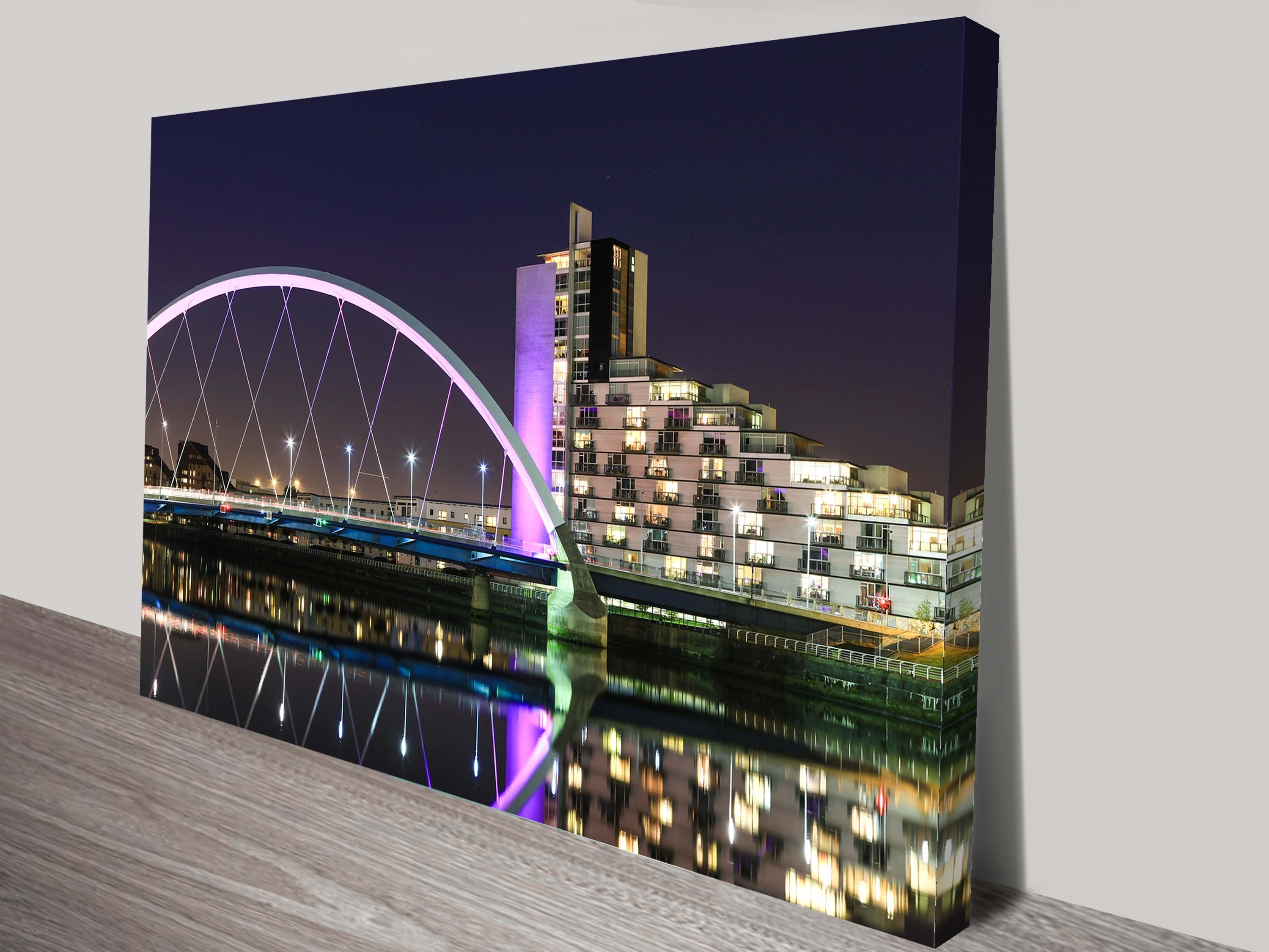 Night Canvas Art Print Throughout Latest Glasgow Canvas Wall Art (View 14 of 15)