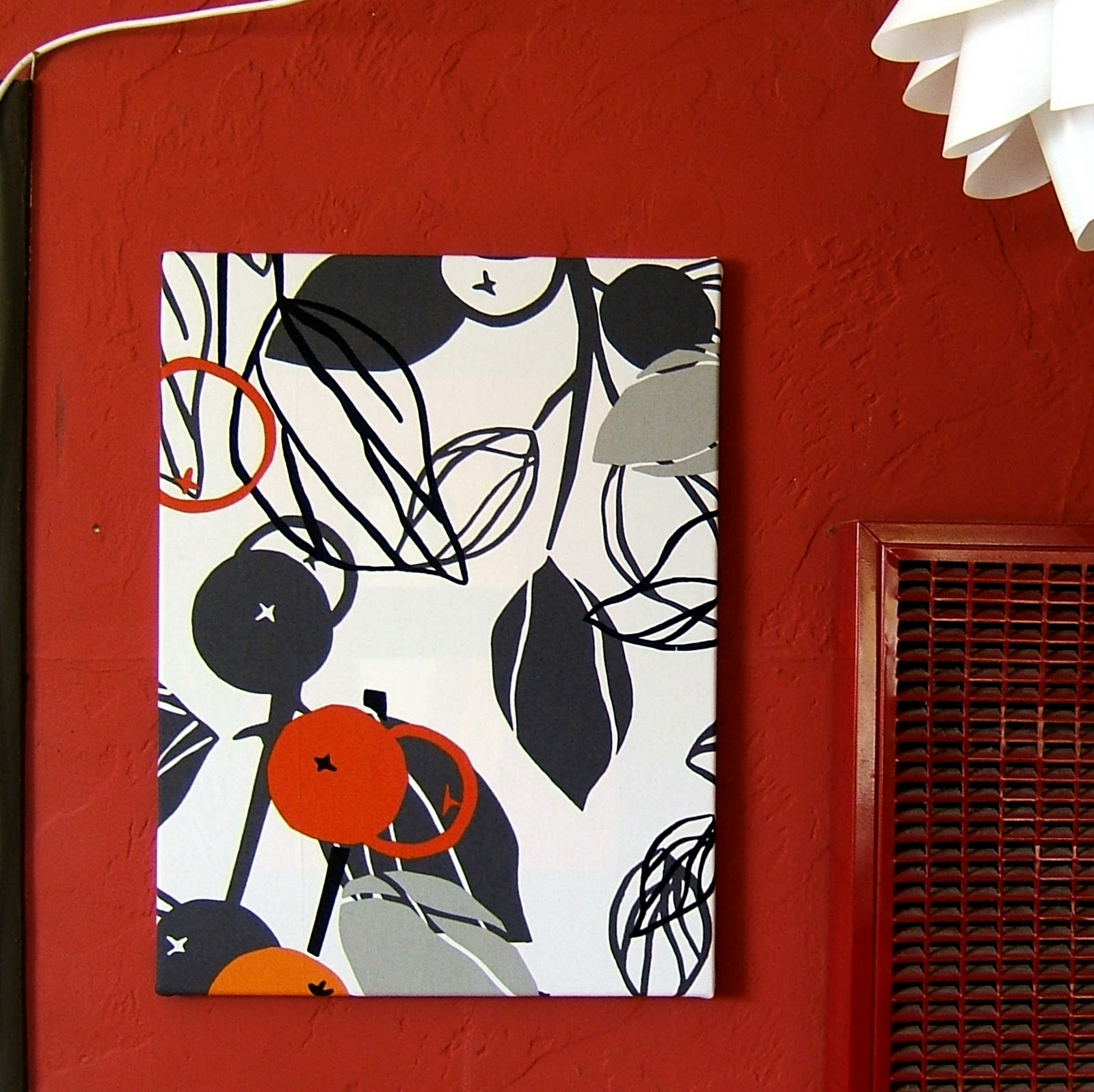 Nine Red: Fabric Wall Art Tutorial Regarding Recent Red Fabric Wall Art (View 11 of 15)