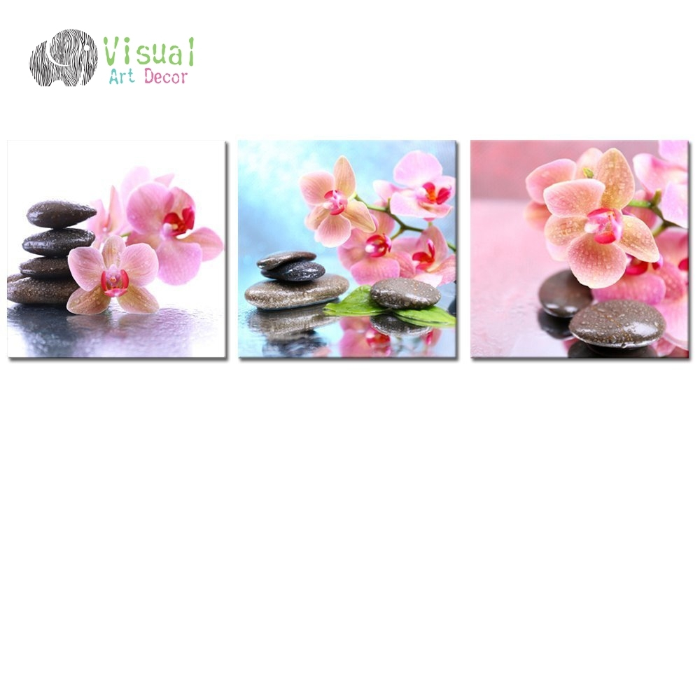Non Framed Canvas Prints Zen Wall Art Spa Still Life Stone Art Intended For Current Orchid Canvas Wall Art (View 8 of 15)