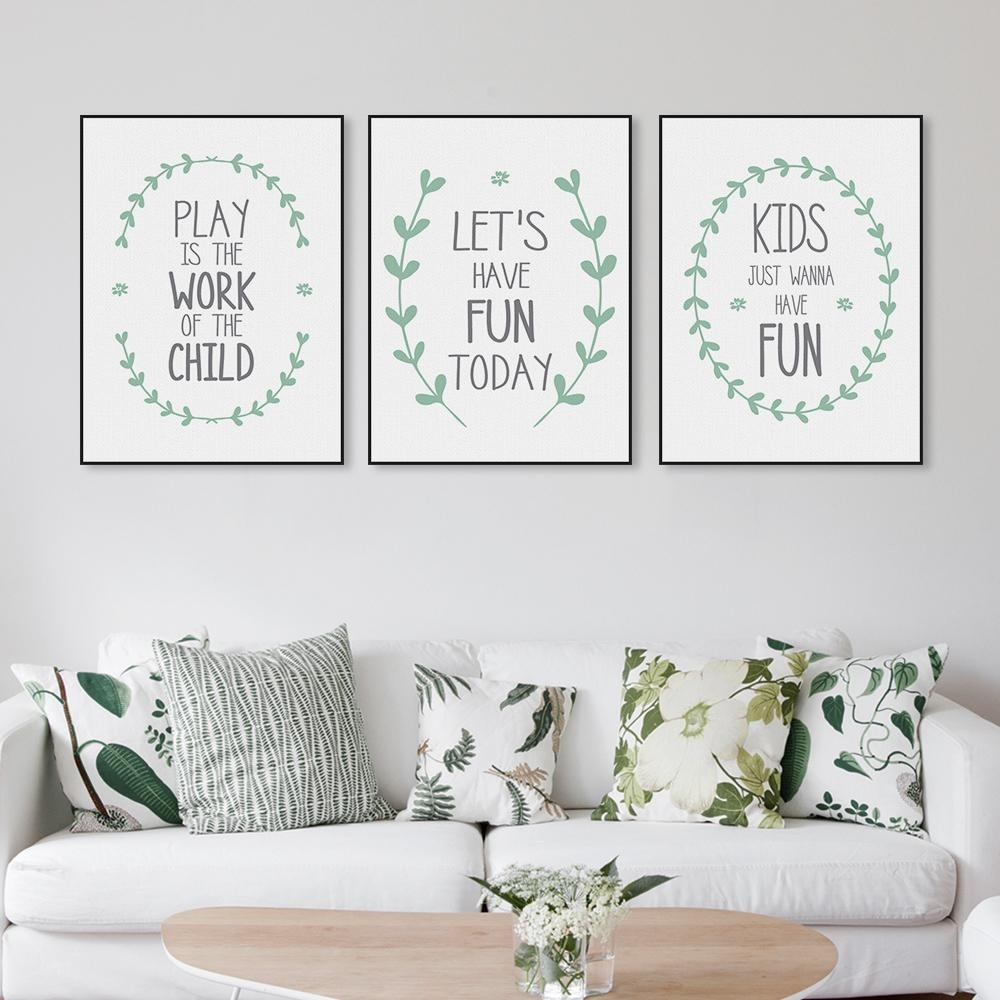Nordic Modern Minimalist Fun Quotes A4 Large Canvas Art Print intended for Best and Newest Large Canvas Wall Art Quotes