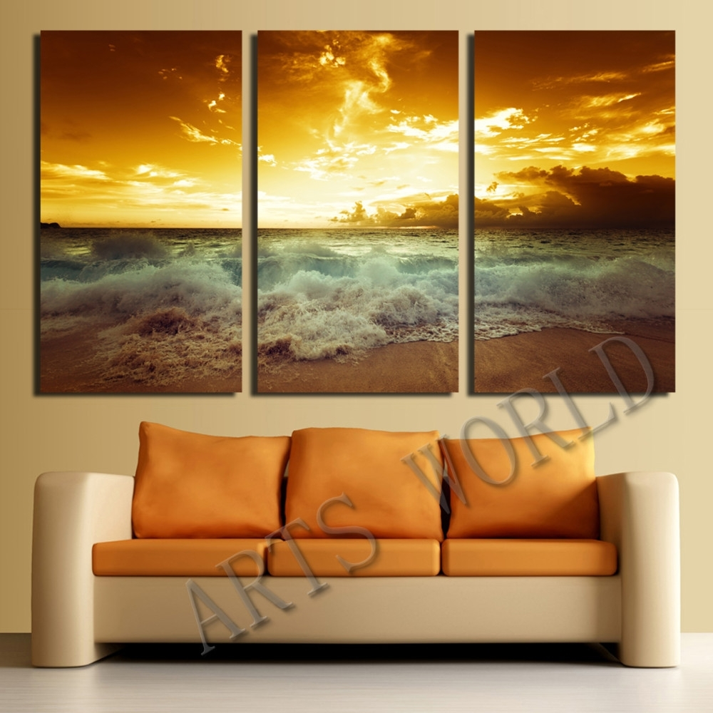 Not Framed Canvas Print Home Decoration Modern Bedroom Wall Art With Latest Framed Beach Art Prints (View 9 of 15)