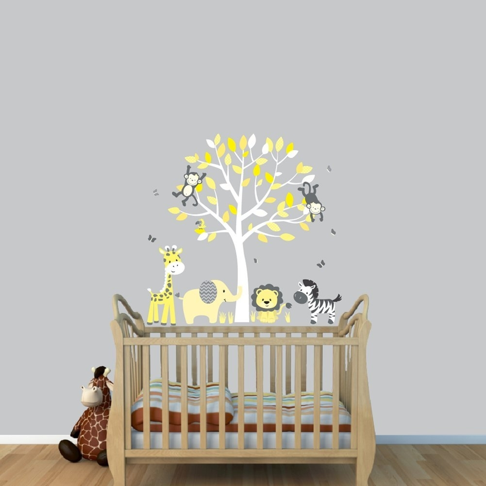 Nursery Decals And More Stickers: Fabric Tree Stickers, Tree regarding Current Fabric Tree Wall Art