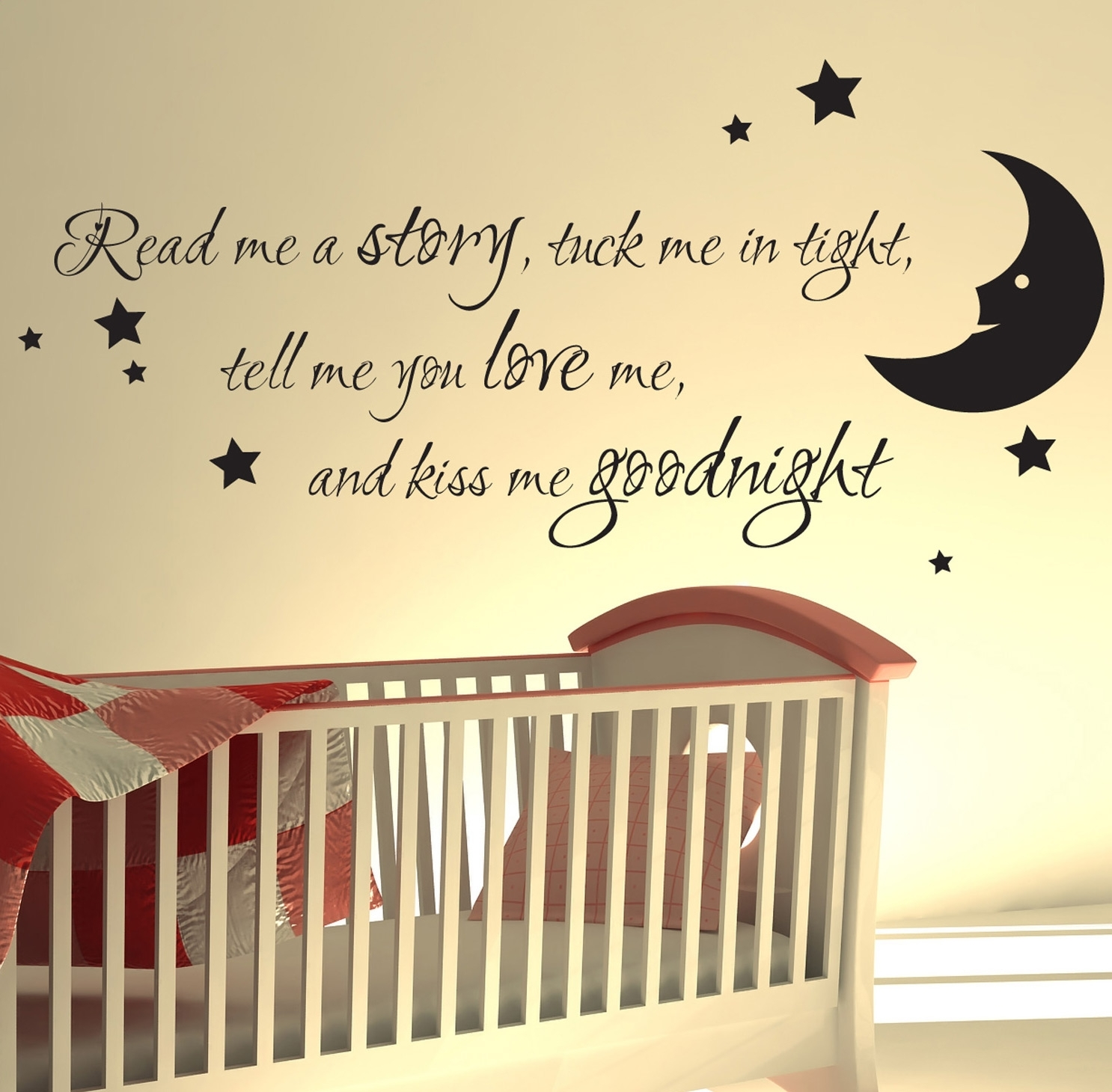 Nursery Wall Sticker Read Me A Story Kids Art Decals Quotes W47 Pertaining To Latest Nursery Wall Accents (View 10 of 15)