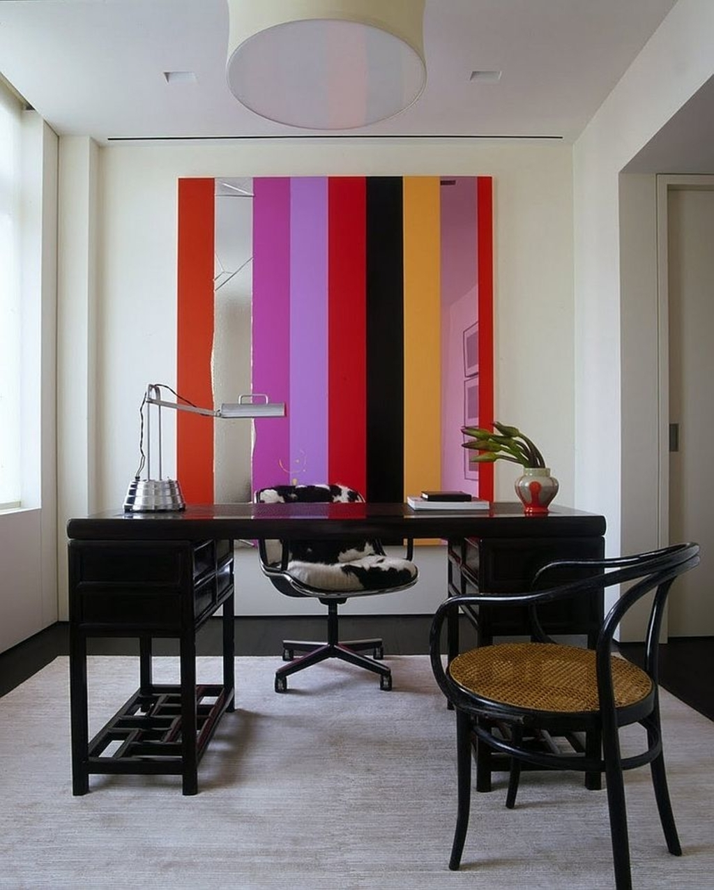 Office: Unique Wall Art Additions Brings Stripes To The Home inside Most Popular Unique Wall Accents