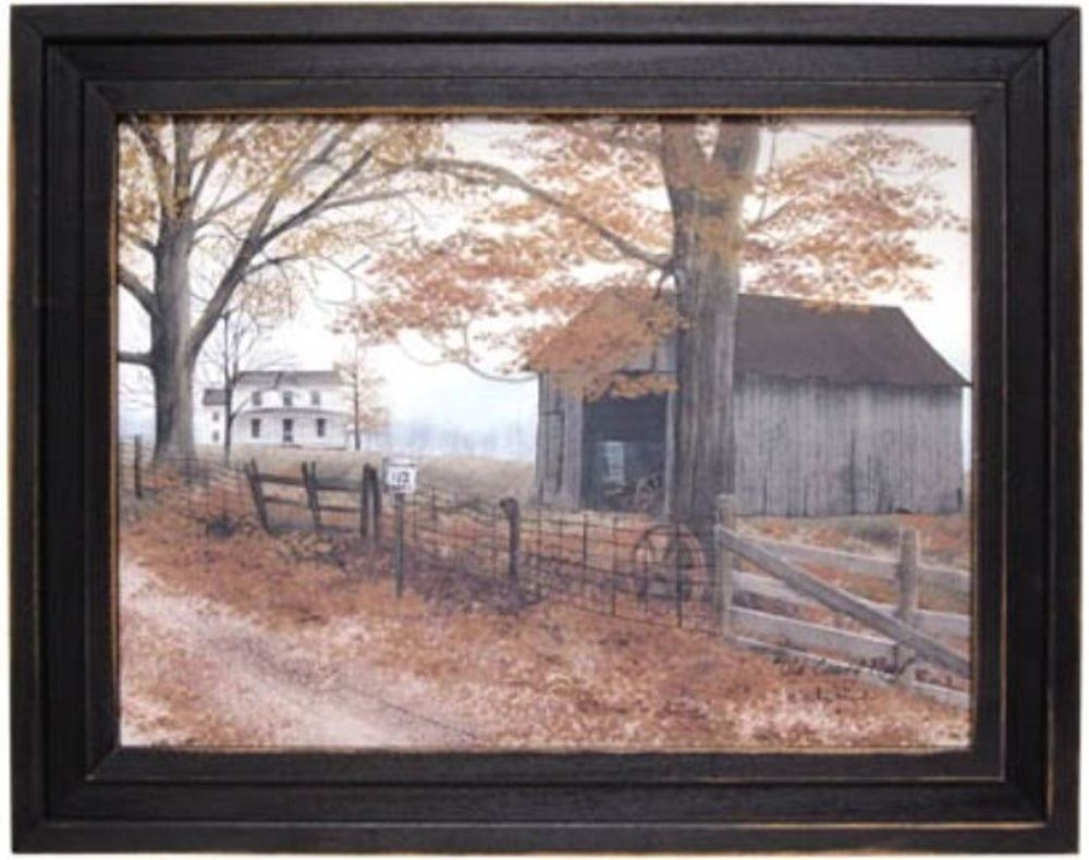 "Old Country Road Barnbilly Jacobs Framed Print Art15 1/2"" H X Pertaining To Current Framed Country Art Prints (View 12 of 15)"
