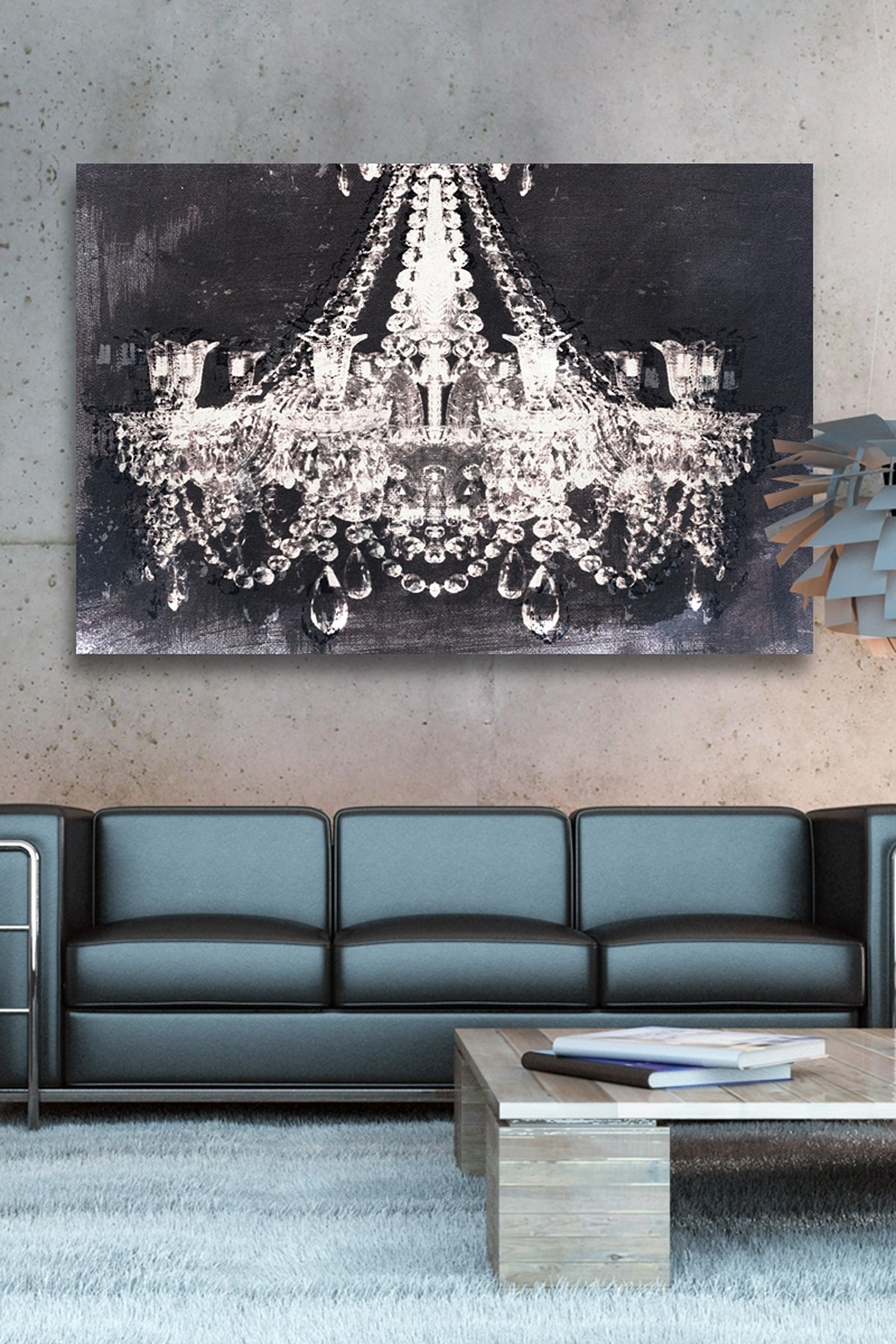 Oliver Gal Dramatic Entrance Night Canvas Wall Art | Http with Current Chandelier Canvas Wall Art