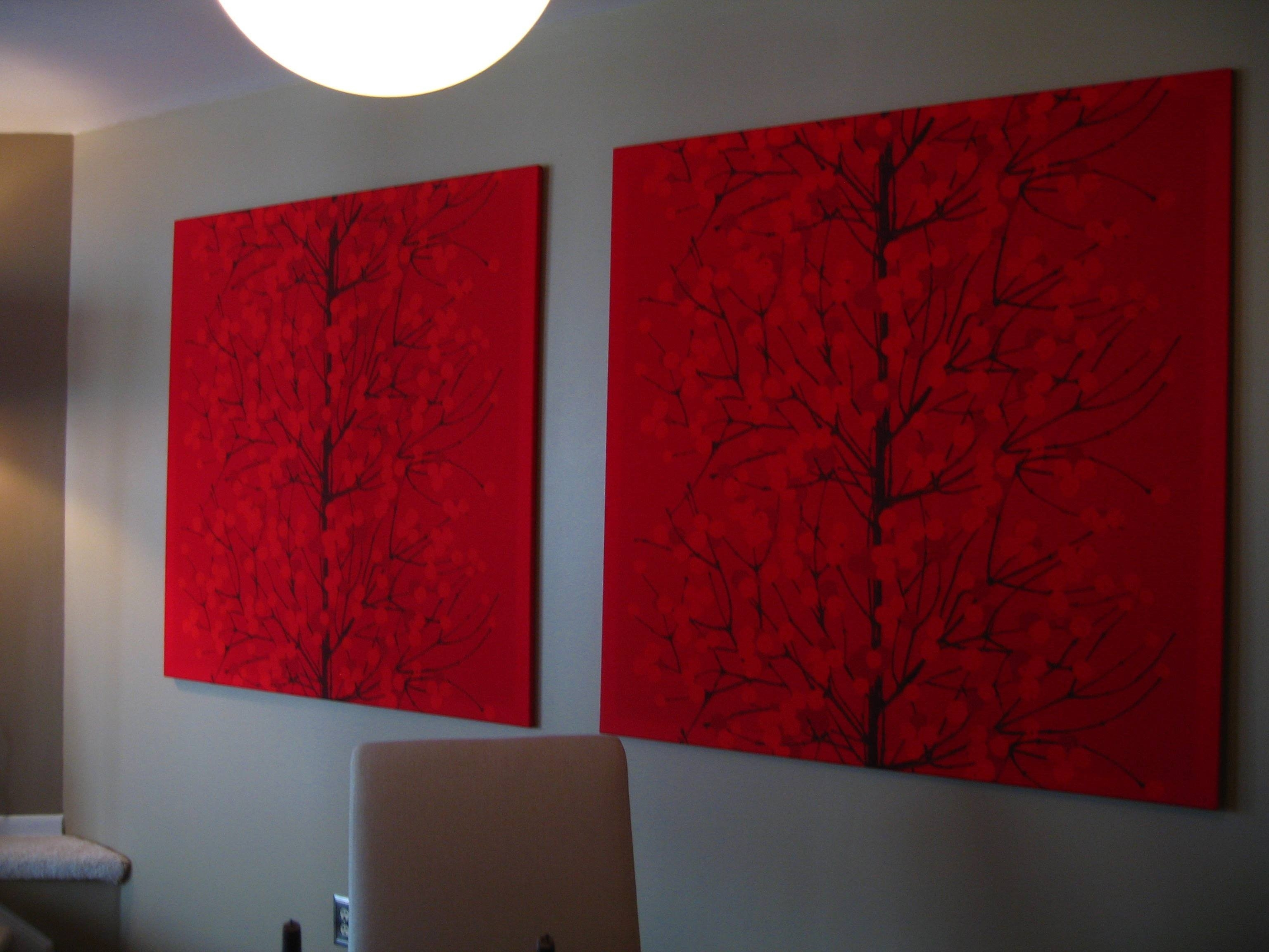 One Pretty Thing - Diy Craft Tutorials regarding Current Marimekko Stretched Fabric Wall Art