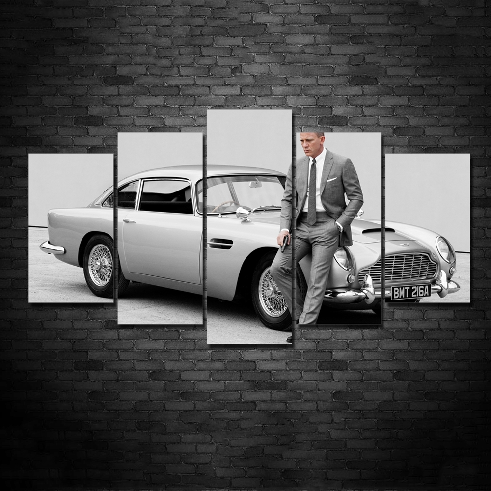 Online Buy Wholesale Skyfall Poster Canvas From China Skyfall For Most Up To Date James Bond Canvas Wall Art (View 2 of 15)