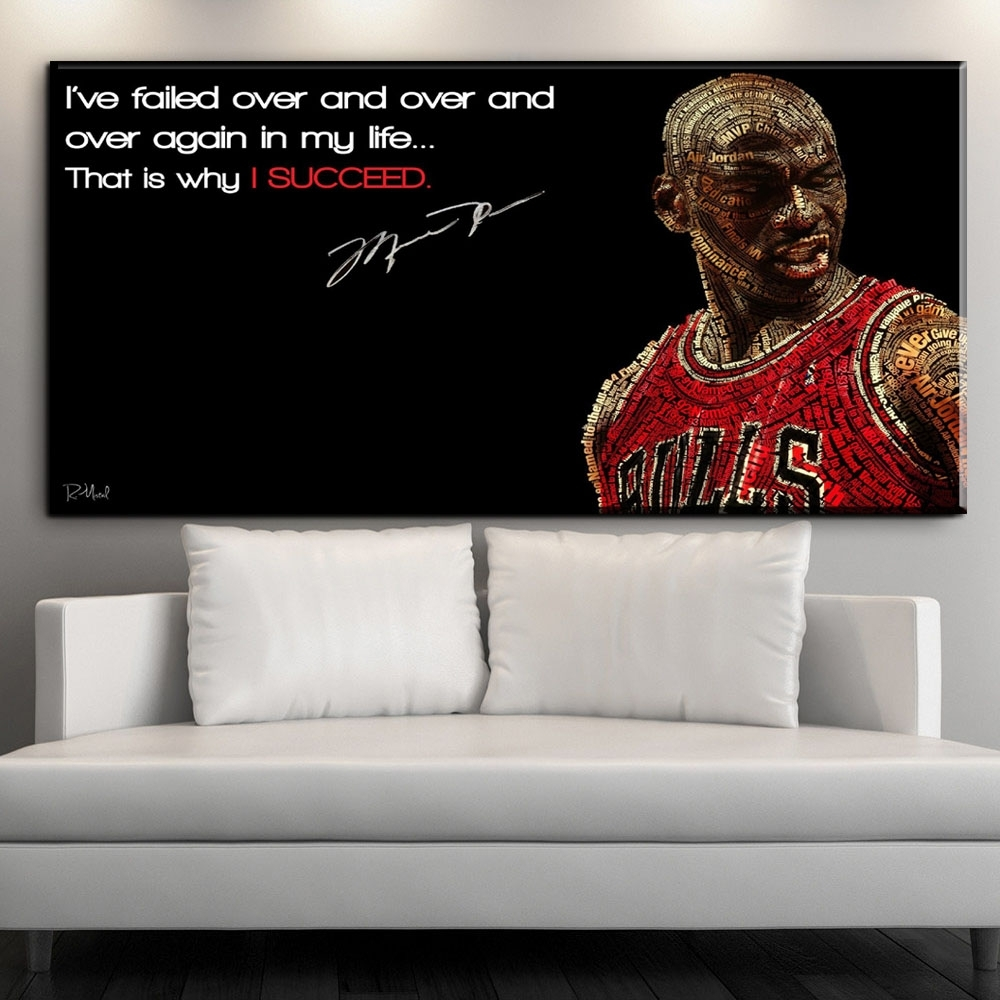 Online Shop Zz1608 Canvas Posters And Prints Art Hd Michael Jordan With Regard To Most Recent Michael Jordan Canvas Wall Art (View 13 of 15)