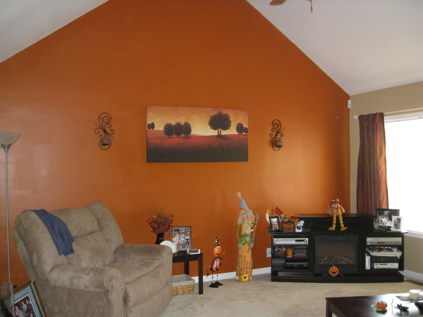 Orange Accent Wall Living Room | Simple Home Decoration | Kitchen Intended For 2017 Wall Accents For Yellow Room (Gallery 14 of 15)