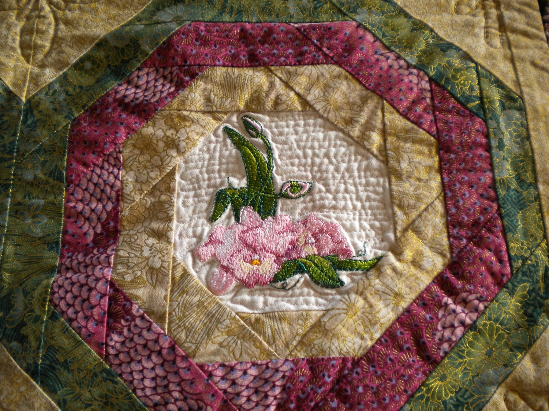 Oriental Quilt Asian Fabric Wall Hanging Seweverafter Etsy Regarding Recent Asian Fabric Wall Art (Gallery 10 of 15)
