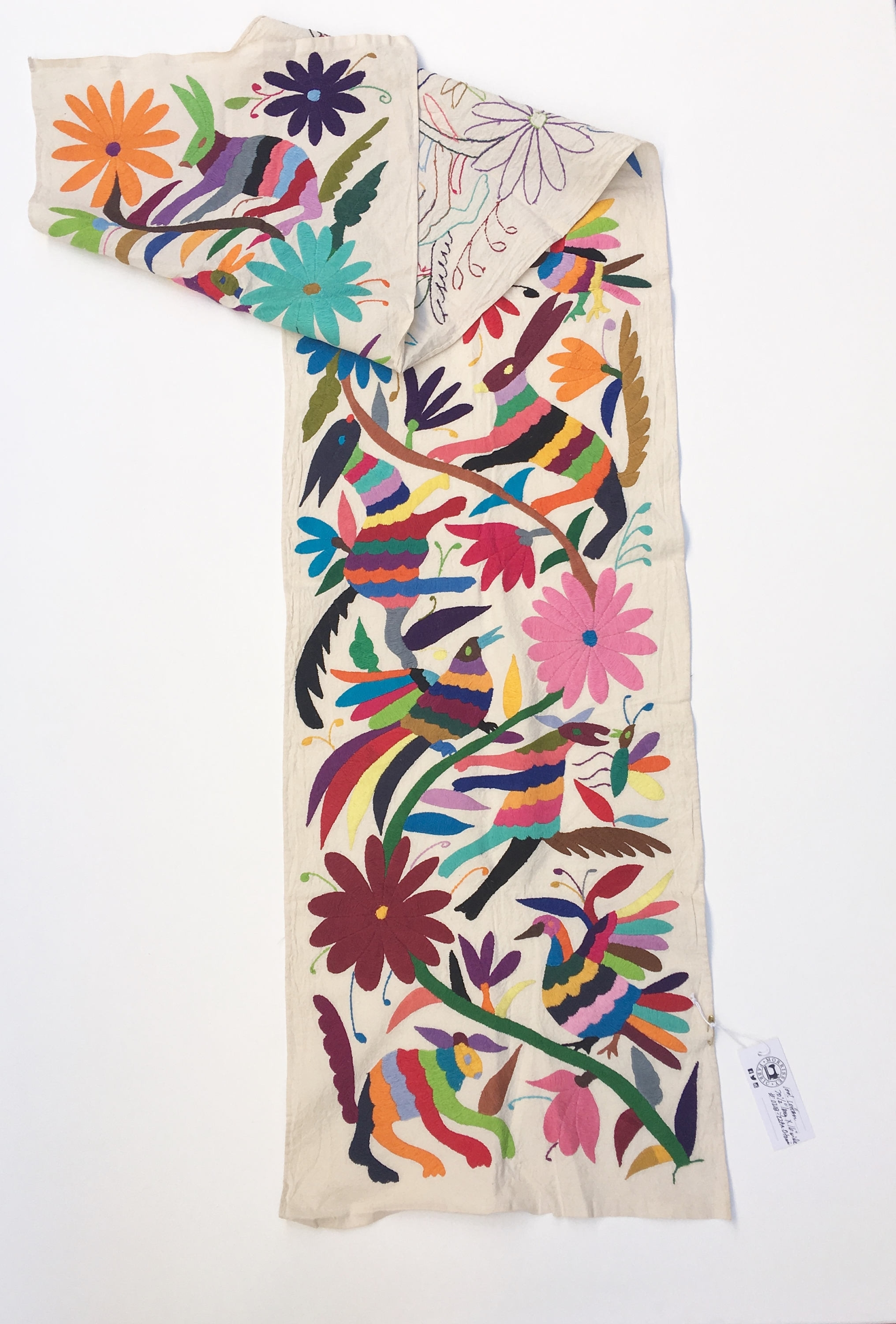 Otomi Fabric, Wall Art, Mexican Tenango, Otomi Embroidery,hand With Newest Mexican Fabric Wall Art (View 11 of 15)