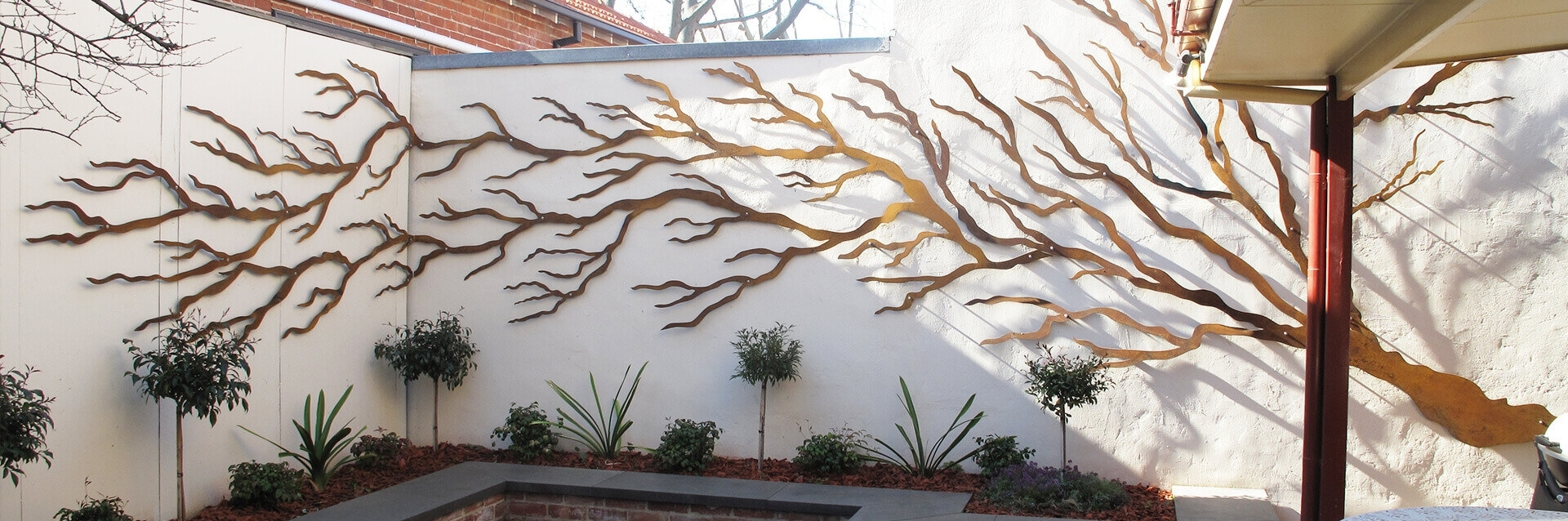 Outdoor : Metal Wall Sculpture Outdoor Wall Decorations Garden Inside 2018 Australia Wall Accents (Gallery 7 of 15)