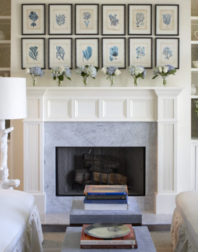 Outstanding Living Room Decoration Using Aged Light Brown Brick inside 2018 Wall Accents Over Fireplace