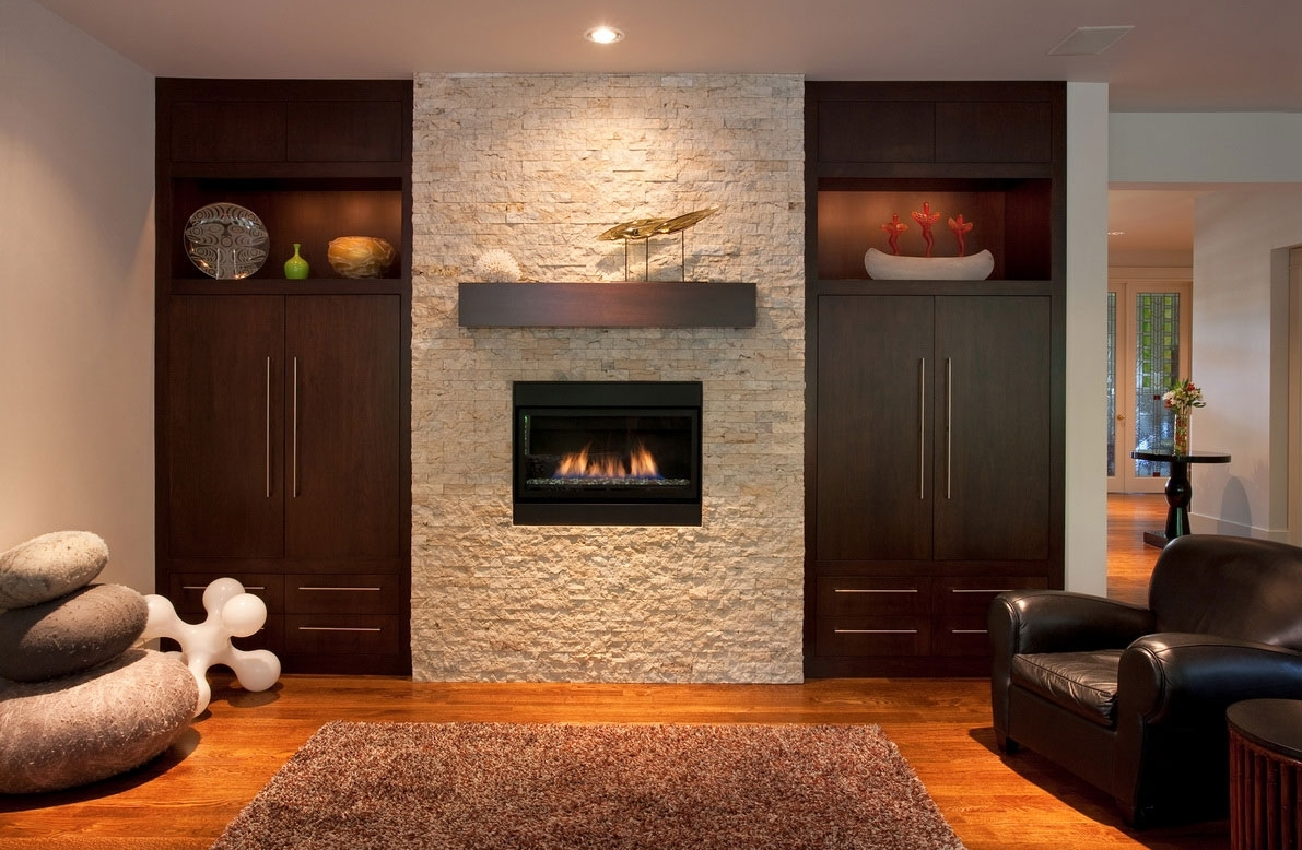 Outstanding Wall Decor Around Fireplace Photo Ideas – Surripui Intended For Most Current Fireplace Wall Accents (View 10 of 15)