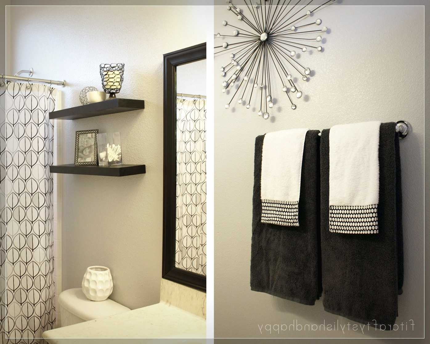 Outstanding Wall Decorations For Bathroom Also Ideas Decorating Throughout Recent Wall Accents For Bathroom (Gallery 2 of 15)