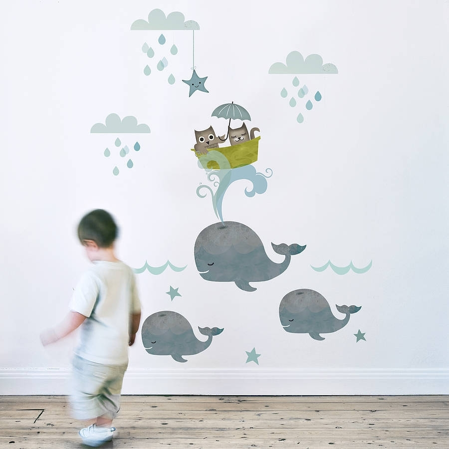Owl And Pussycat Fabric Wall Sticker | Wall Sticker, Nursery And Pertaining To Most Current Baby Nursery Fabric Wall Art (View 6 of 15)