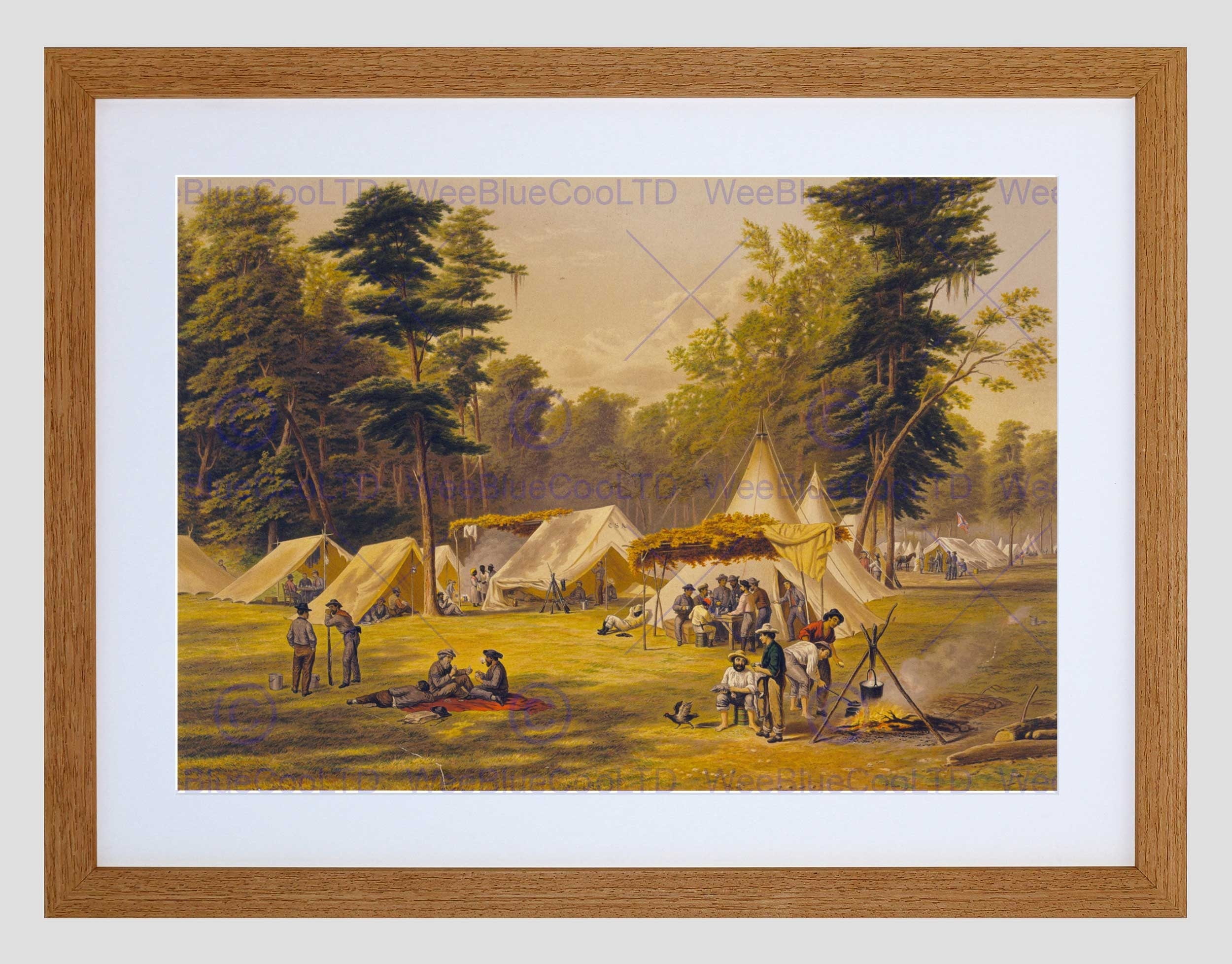 Paintings Confederate Army Camp American Civil War Framed Art pertaining to Most Recent Confederate Framed Art Prints