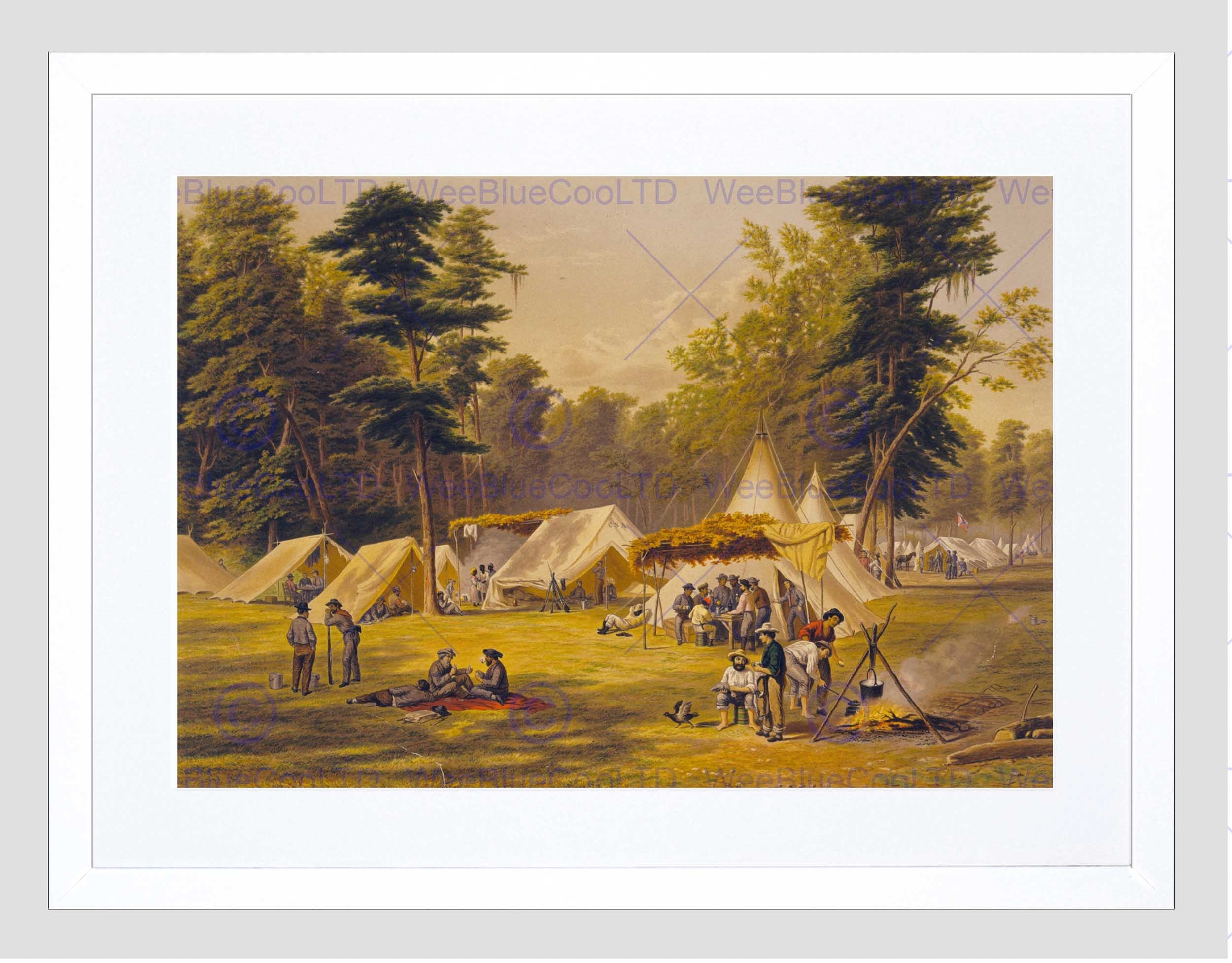 Paintings Confederate Army Camp American Civil War Framed Art with Most Recent Confederate Framed Art Prints