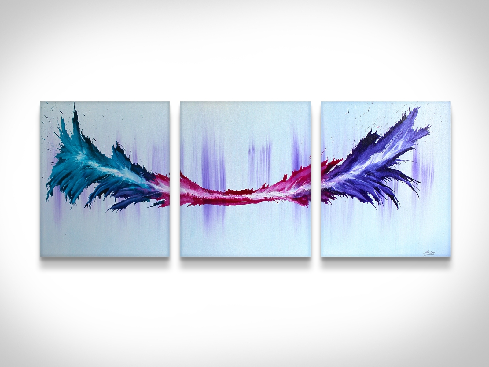 Paintings For Sale | Rainbow Canvas Painting | Artsyhome Regarding Best And Newest Rainbow Canvas Wall Art (View 9 of 15)