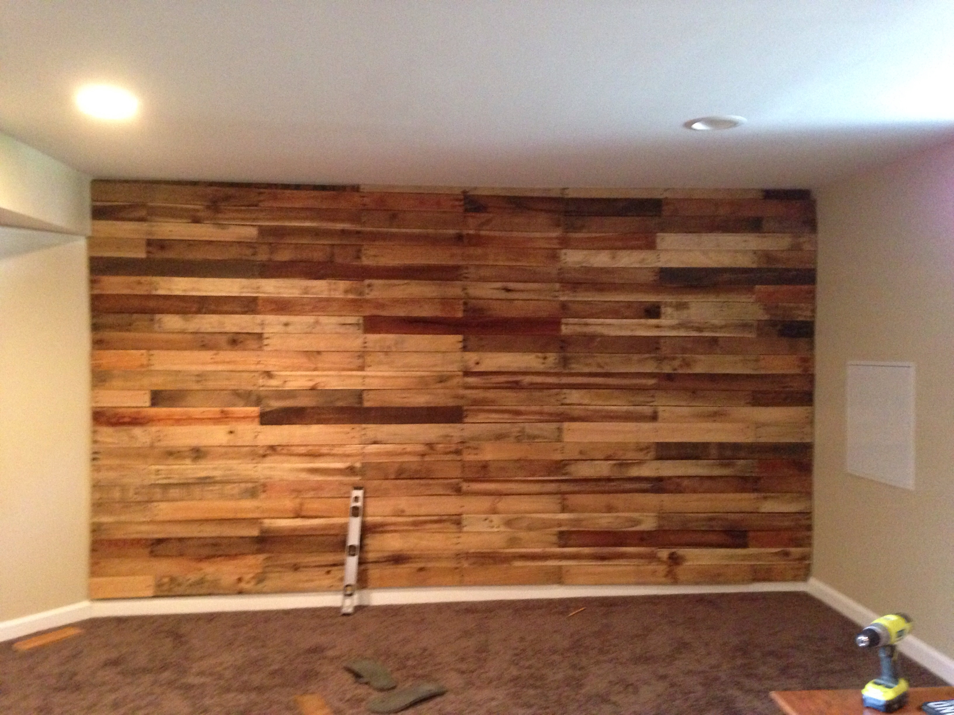 Pallet Accent Wall! - Album On Imgur with Recent Garage Wall Accents