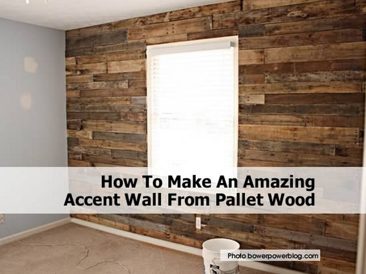 Pallet Accent Wall – Design Decoration With Recent Wall Accents With Pallets (Gallery 5 of 15)