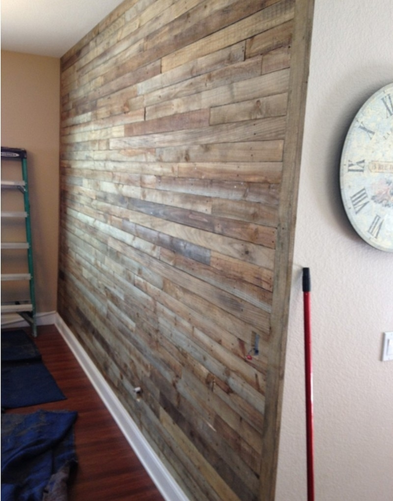 Pallet Wall Project | The Owner Builder Network Inside Most Up To Date Wall Accents Made From Pallets (Gallery 10 of 15)