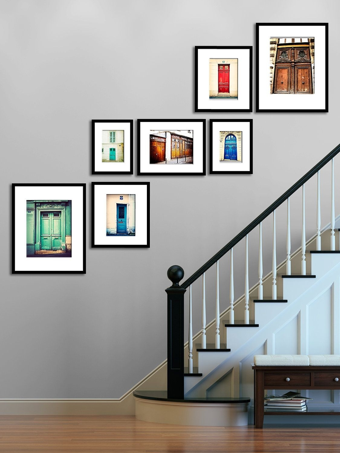 Paris Photography – Print Set, Parisian Door Wall Art, Wall Decor Inside Most Popular Etsy Wall Accents (Gallery 3 of 15)