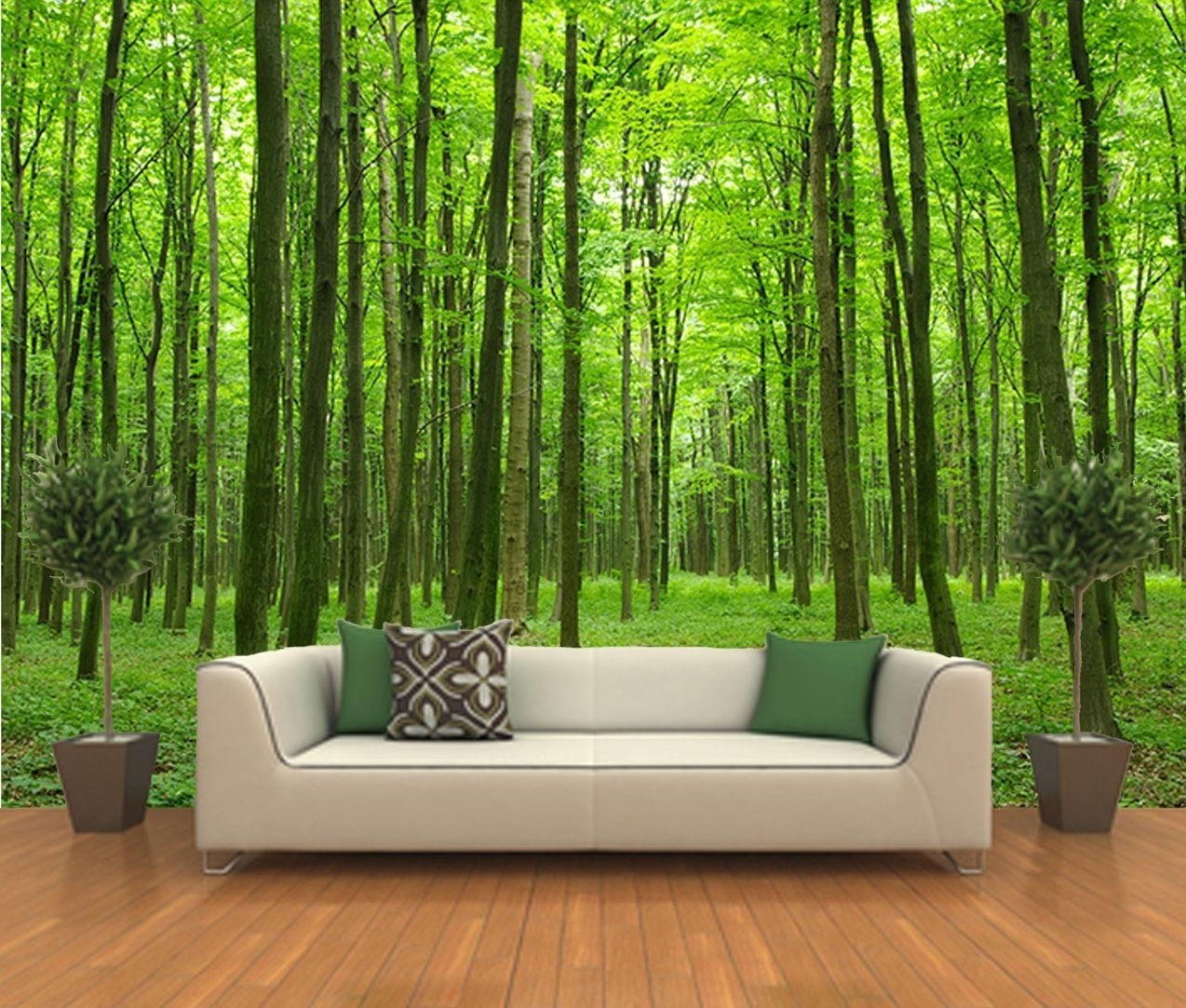 Peel And Stick Photo Wall Mural, Decor Wallpapers Forest Art - 504 intended for Most Up-to-Date Murals Wall Accents