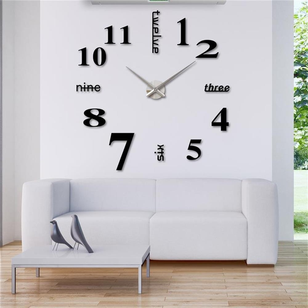 Perfect Design Clock Wall Decor Clocks Large 36 Inch - Wall Art Ideas inside Recent Clock Wall Accents