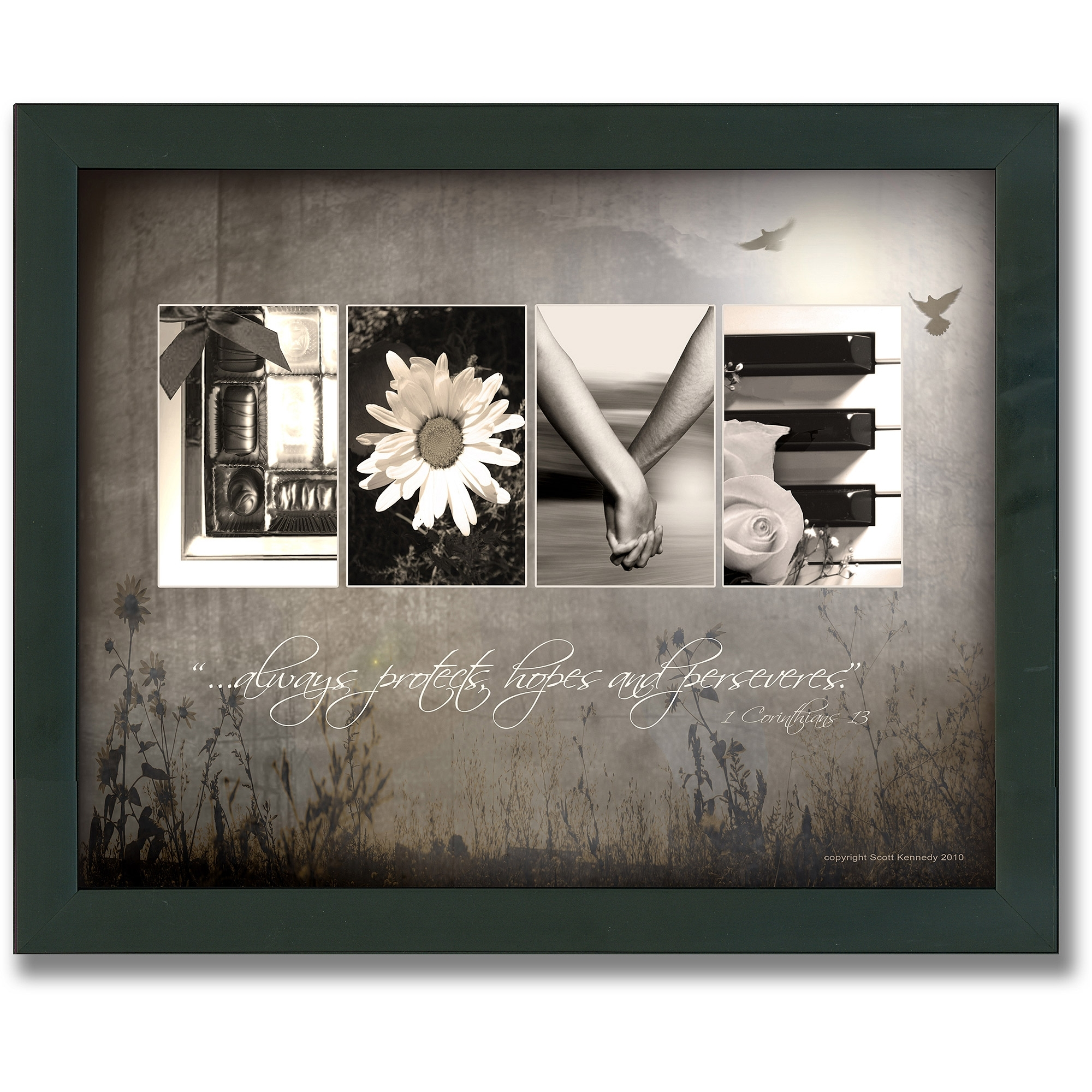 Personal Prints Love Letters Framed Canvas Wall Art – Walmart Pertaining To 2018 Canvas Wall Art At Walmart (View 2 of 15)