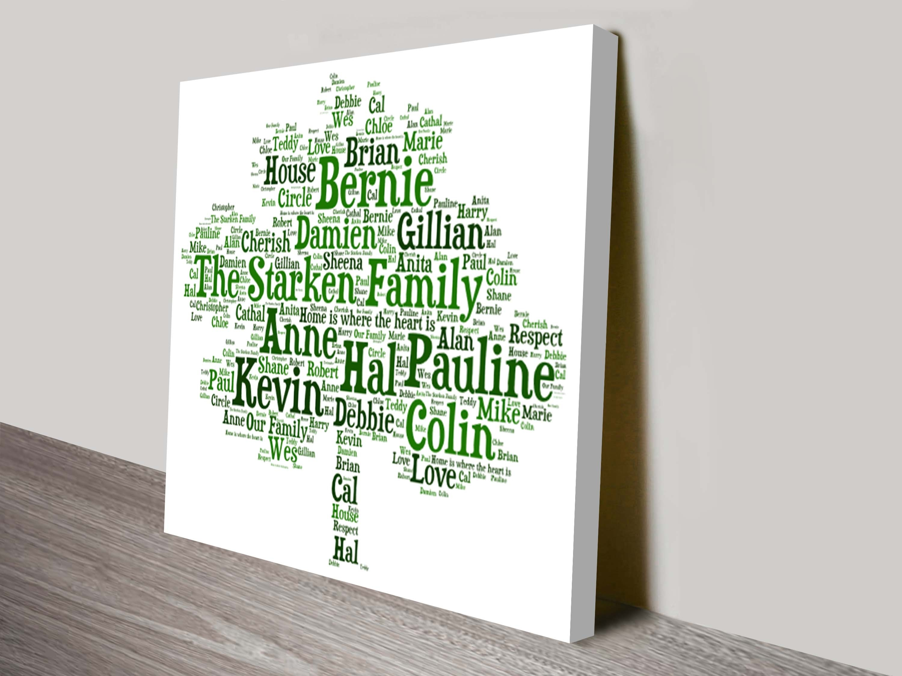 Personalised Word Art | Typographic Art Prints On Canvas Australia throughout Most Current Mandurah Canvas Wall Art