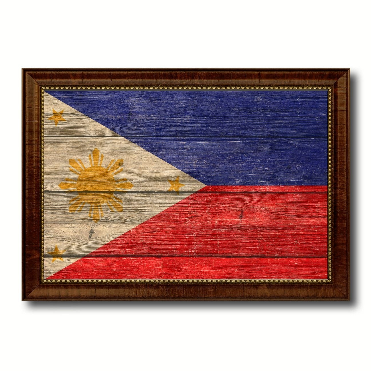 Philippines Country Flag Texture Canvas Print With Brown Custom Within Most Recent Canvas Wall Art Of Philippines (View 11 of 15)