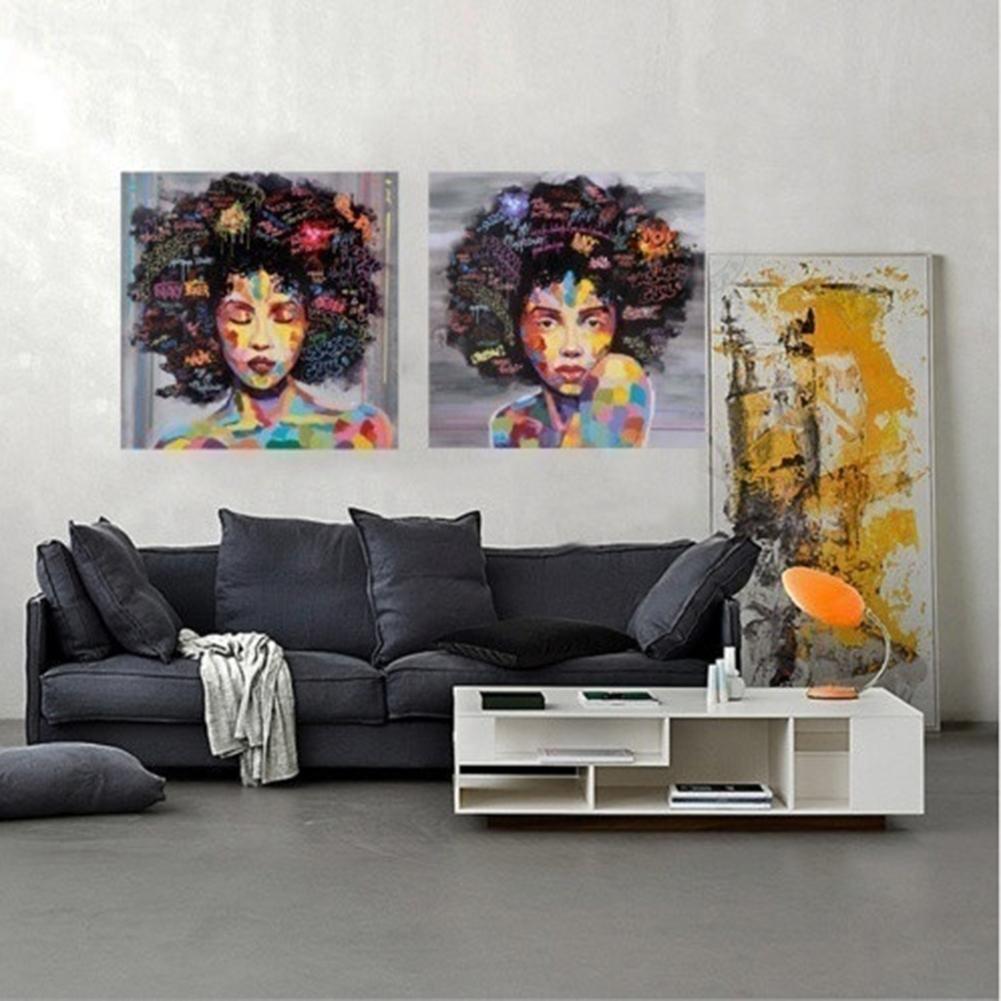 Phoenix   Rakuten: 2pcs/set Colorful Girl Portrait Canvas For Most Popular Portrait Canvas Wall Art (View 5 of 15)