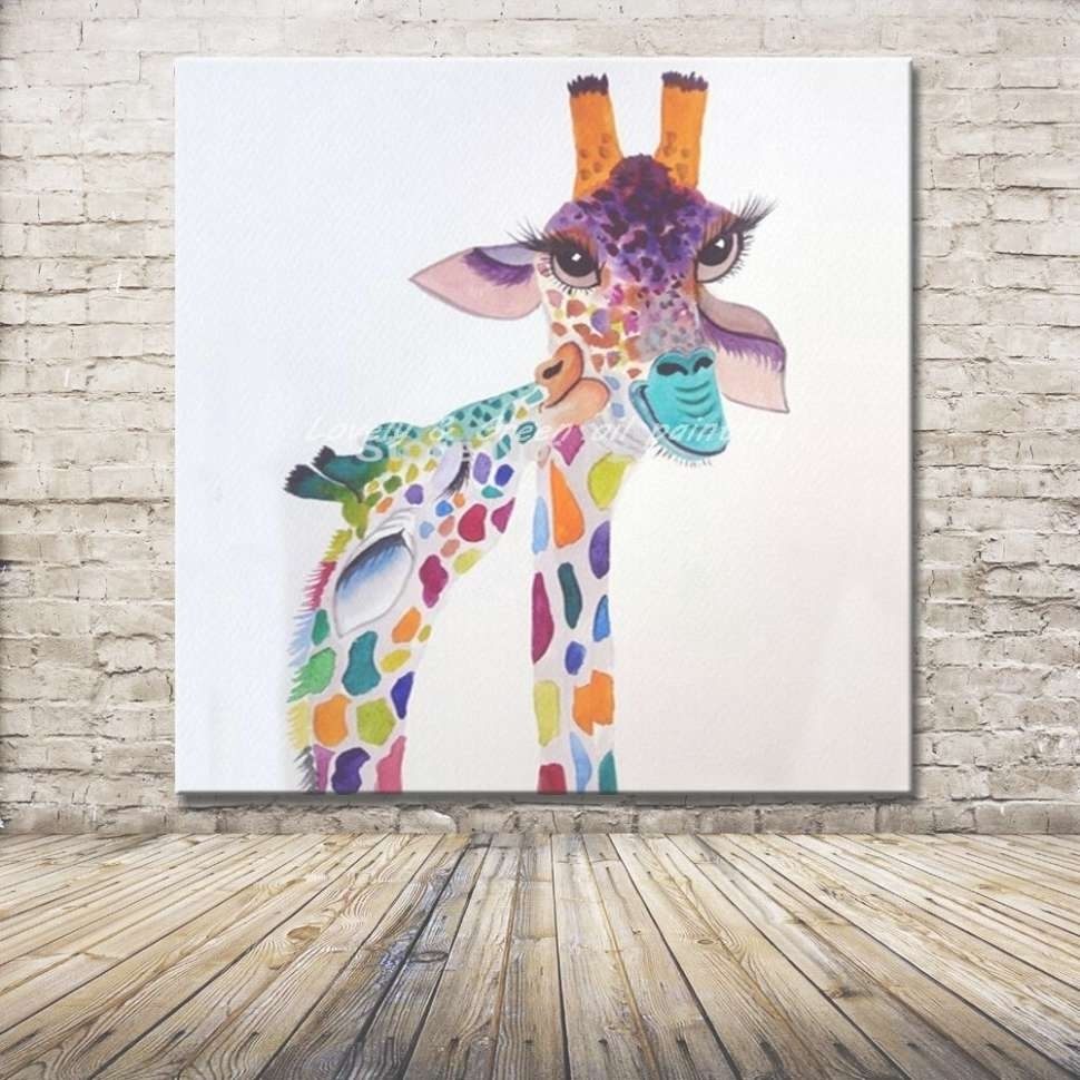 Photo Gallery Of Giraffe Canvas Wall Art (Viewing 11 Of 45 Photos) Regarding Latest Giraffe Canvas Wall Art (View 13 of 15)