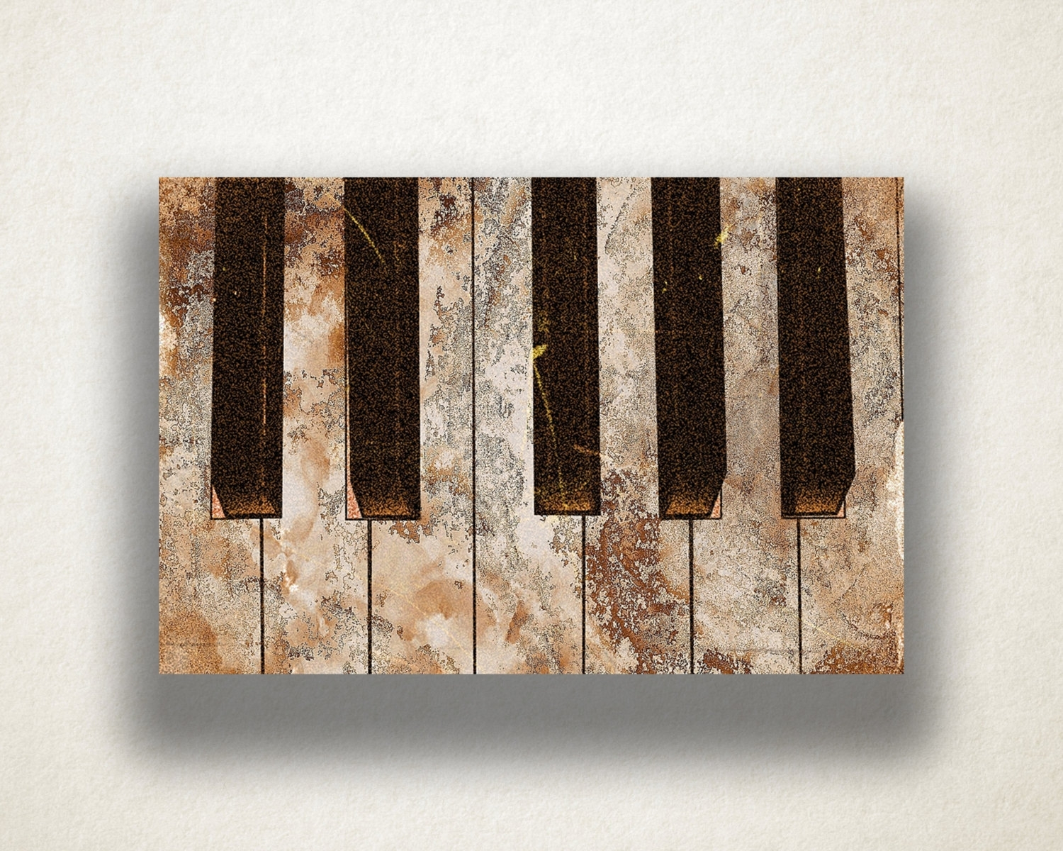 Piano Painting Canvas Art Print, Piano Keys Wall Art, Music Canvas Throughout Latest Music Canvas Wall Art (Gallery 12 of 15)
