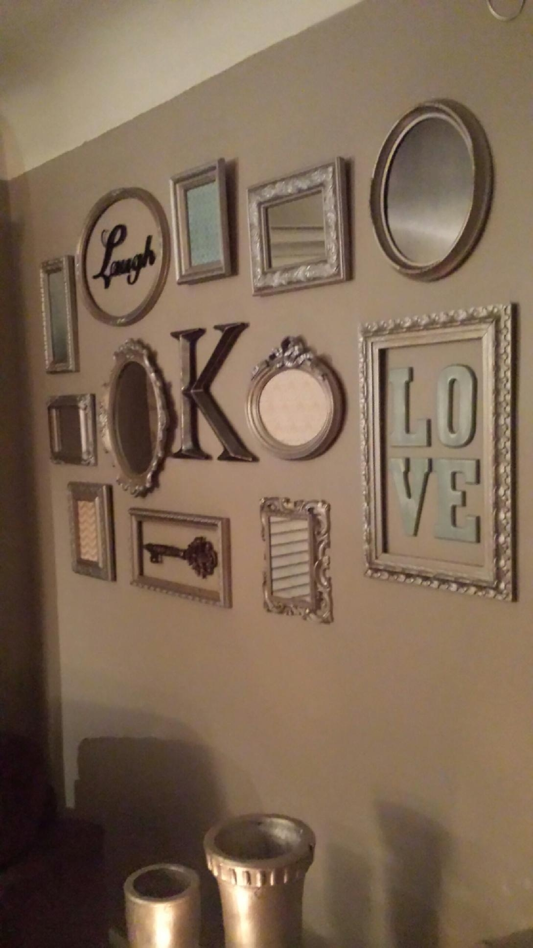 Picture Frame Collage Wall Turned Out So Cute! | Decorations Regarding Current Frames Wall Accents (View 11 of 15)
