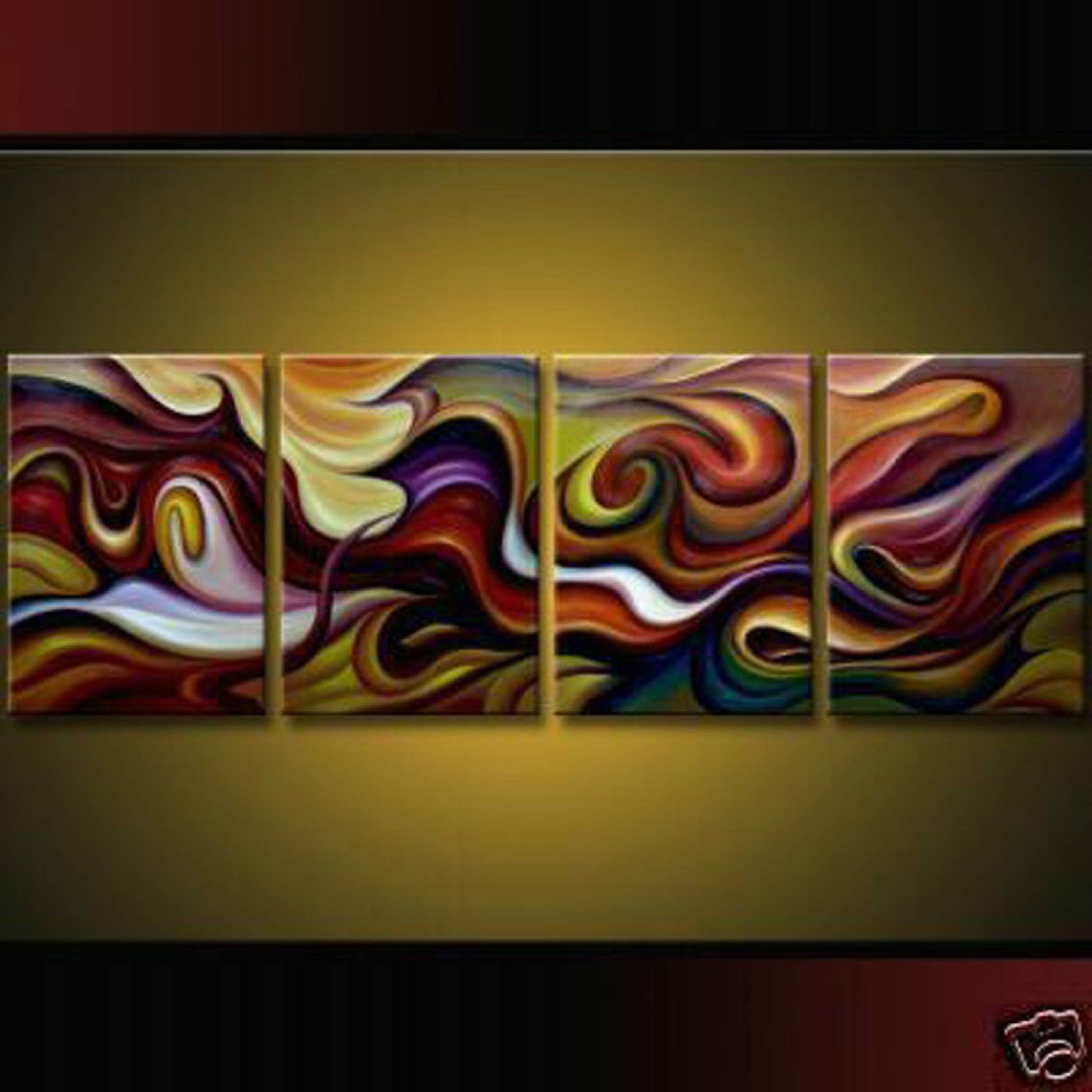 Piece Modern Abstract Huge Art Oil Painting Canvas Wall On Modern Pertaining To Most Recently Released Oil Paintings Canvas Wall Art (View 7 of 15)