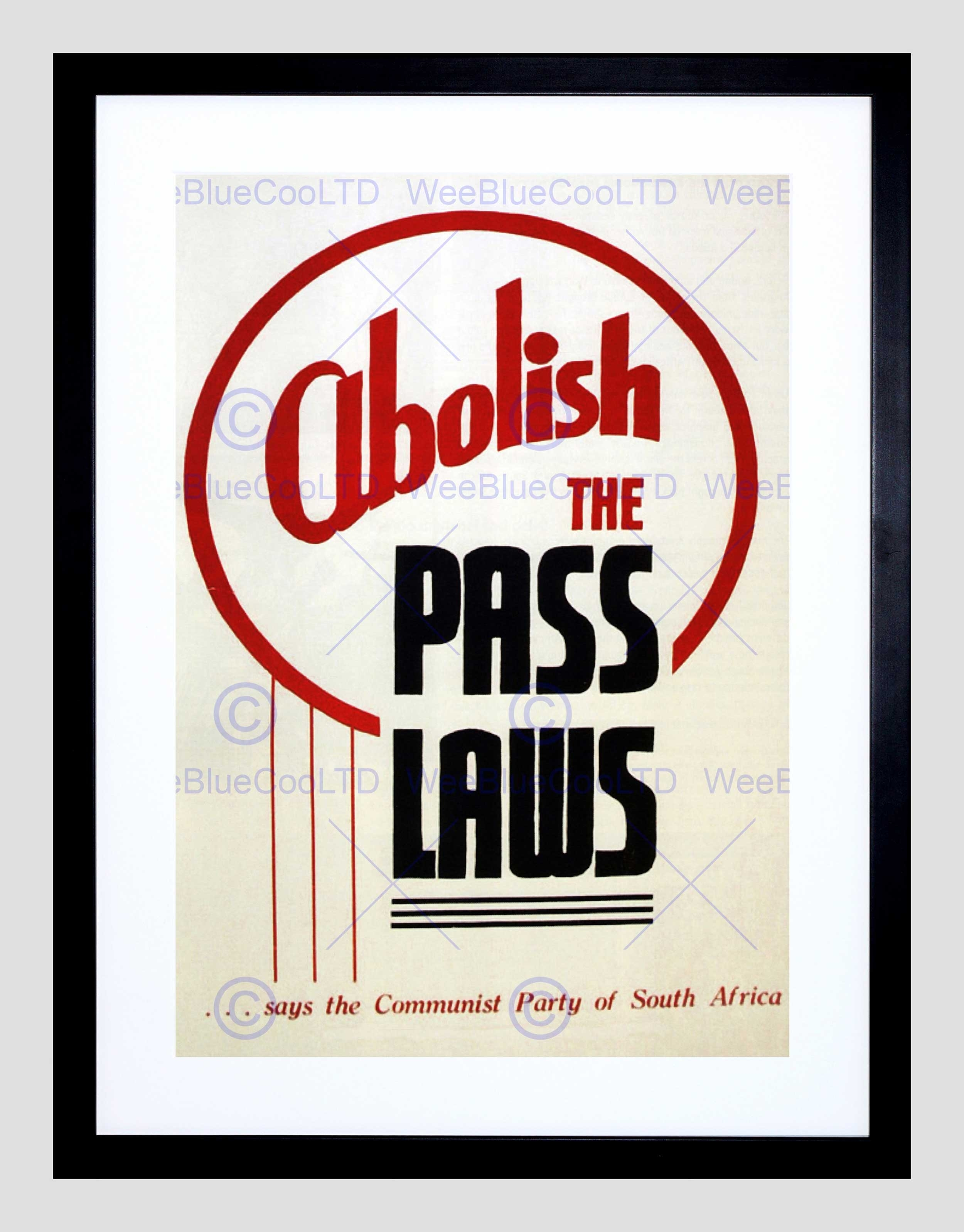 Political Apartheid Segregation Pass Laws South Africa Framed Art Pertaining To 2018 South Africa Framed Art Prints (View 9 of 15)