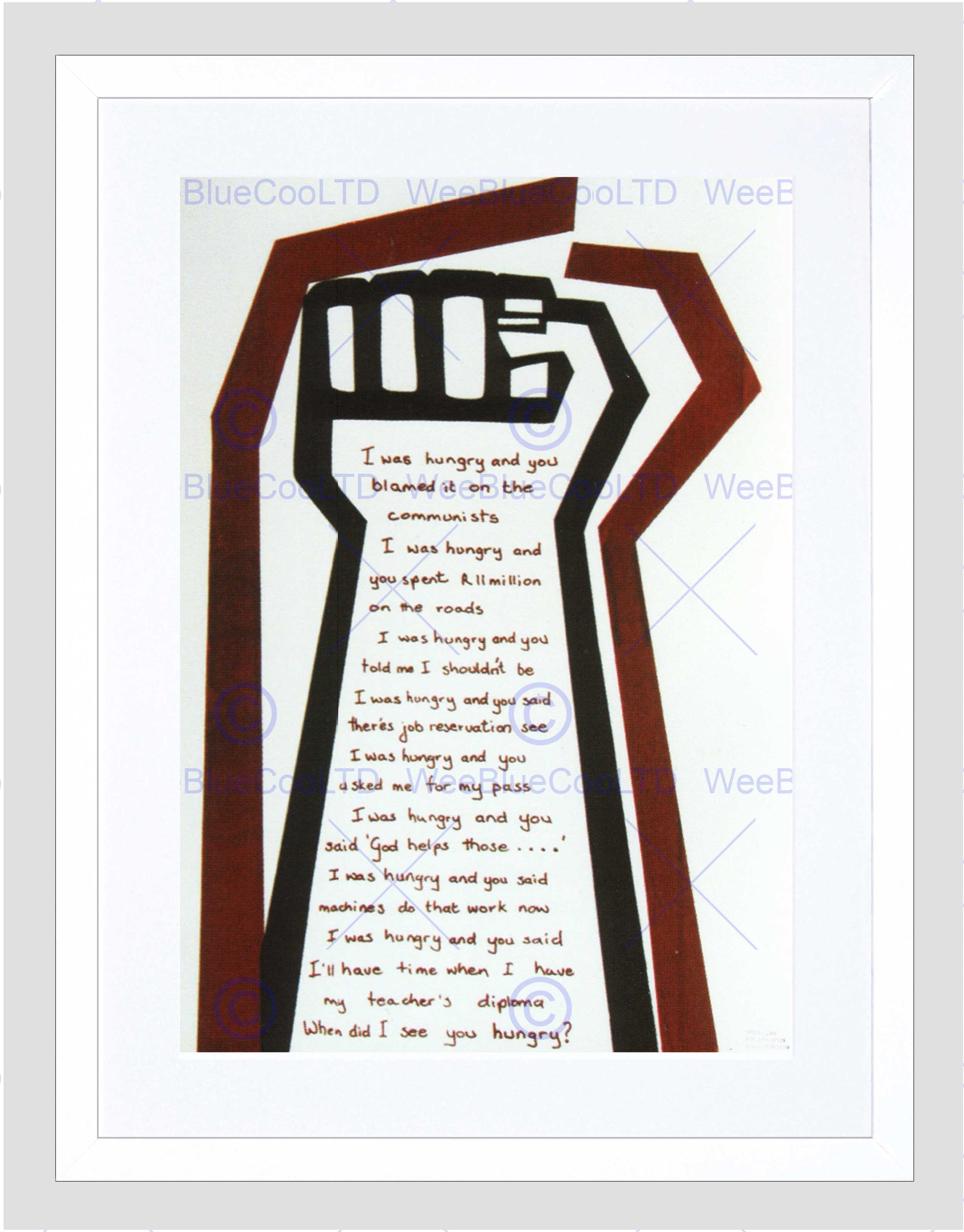 Political Hunger South Africa Apartheid Black Framed Art Print With Regard To Most Current South Africa Framed Art Prints (View 10 of 15)