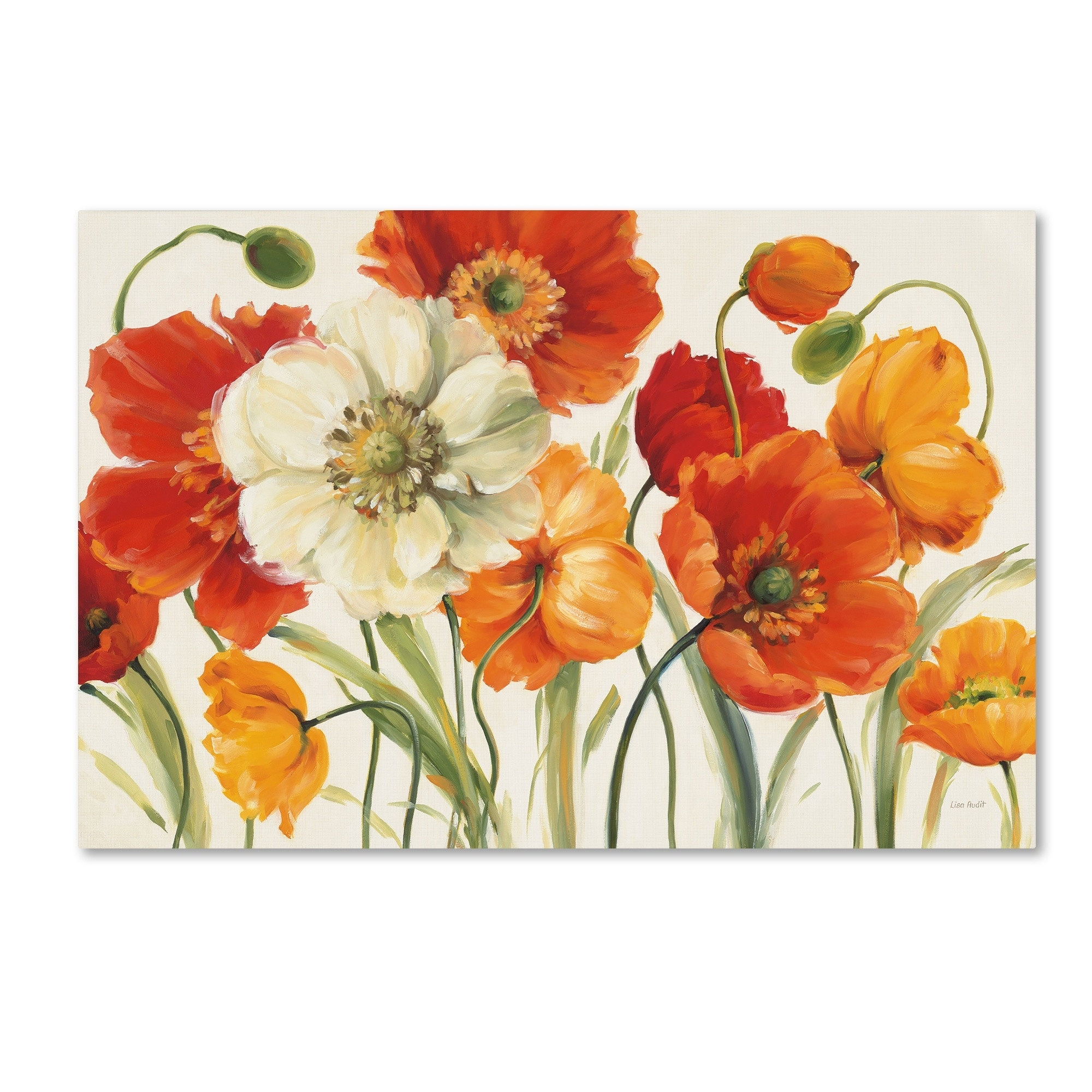Poppies Melodylisa Audit Painting Print On Wrapped Canvas In 2017 Poppies Canvas Wall Art (View 8 of 15)