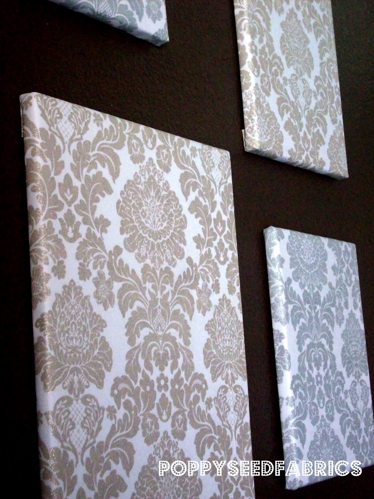 Poppyseed Fabrics: Fabric Wall Art Tutorial With Regard To Most Recent Fabric Wrapped Canvas Wall Art (View 10 of 15)
