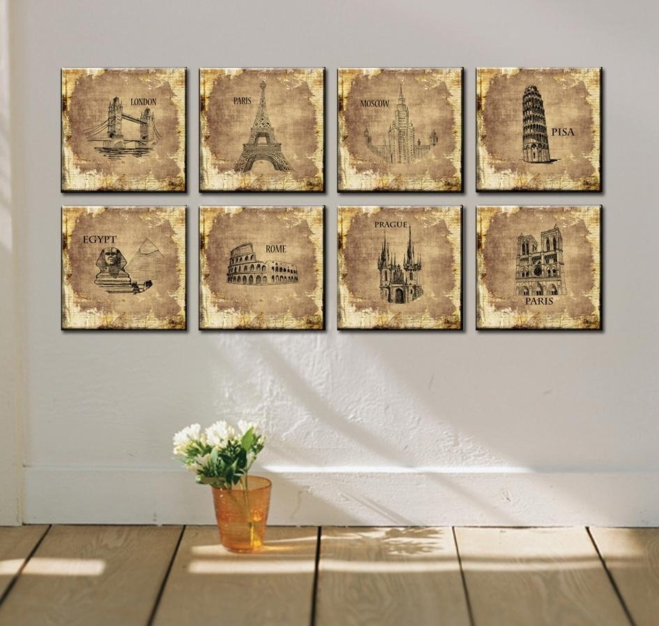 Popular 8 Piece Canvas Wall Art Buy Cheap 8 Piece Canvas Wall Art Inside Most Current Canvas Wall Art Of Rome (View 9 of 15)